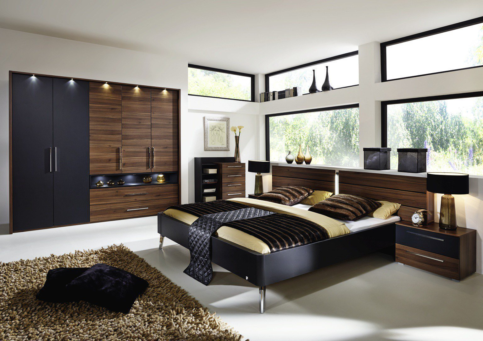 rauch manila schlafzimmer m bel nussbaum m bel letz. Black Bedroom Furniture Sets. Home Design Ideas