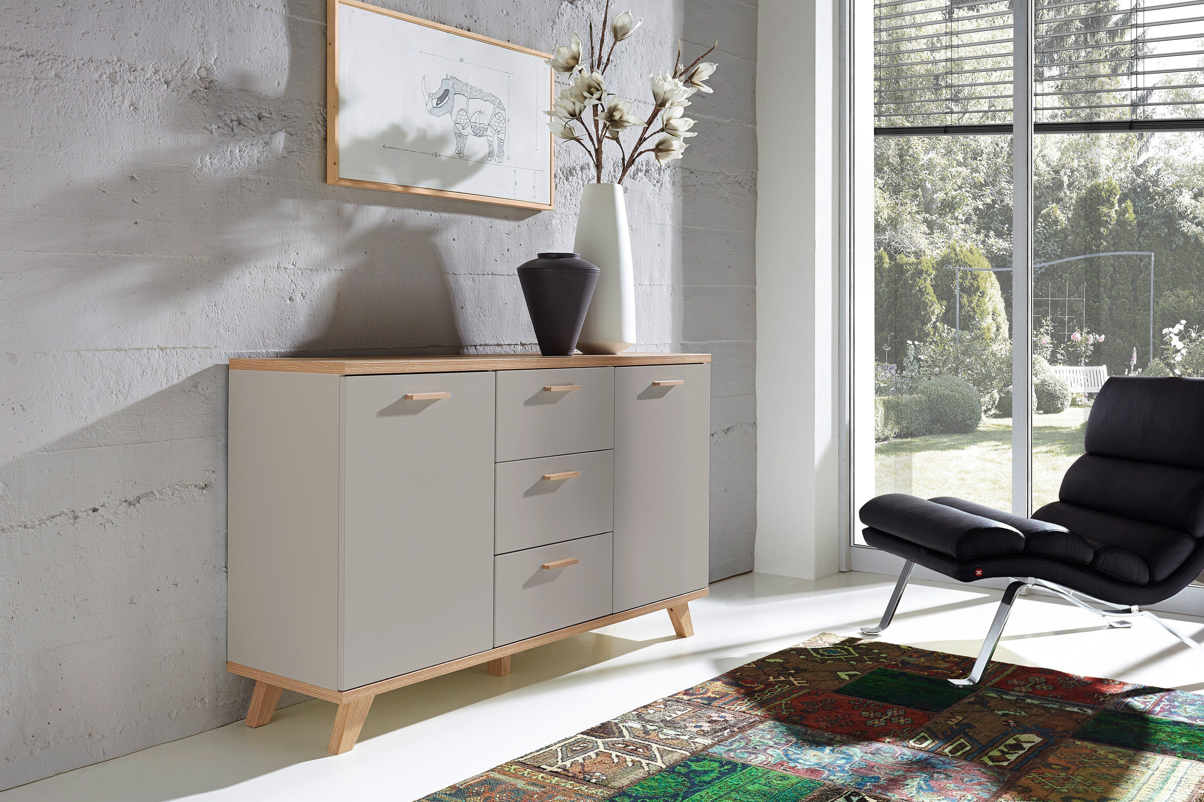 sideboard oslo grau von germania m bel letz ihr online shop. Black Bedroom Furniture Sets. Home Design Ideas