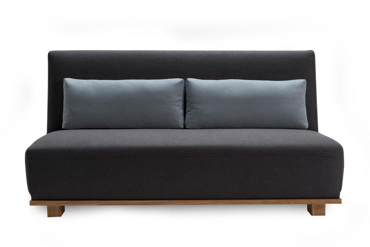 ell ell lisette schlafsofa in dunkelgrau mit massivholzblende m bel letz ihr online shop. Black Bedroom Furniture Sets. Home Design Ideas
