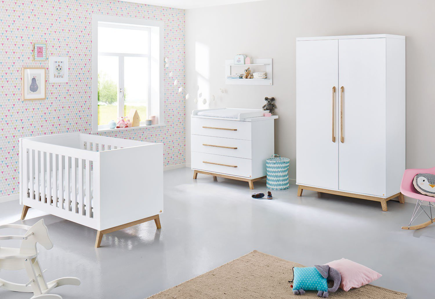 pinolino riva babyzimmer wei esche m bel letz ihr online shop. Black Bedroom Furniture Sets. Home Design Ideas