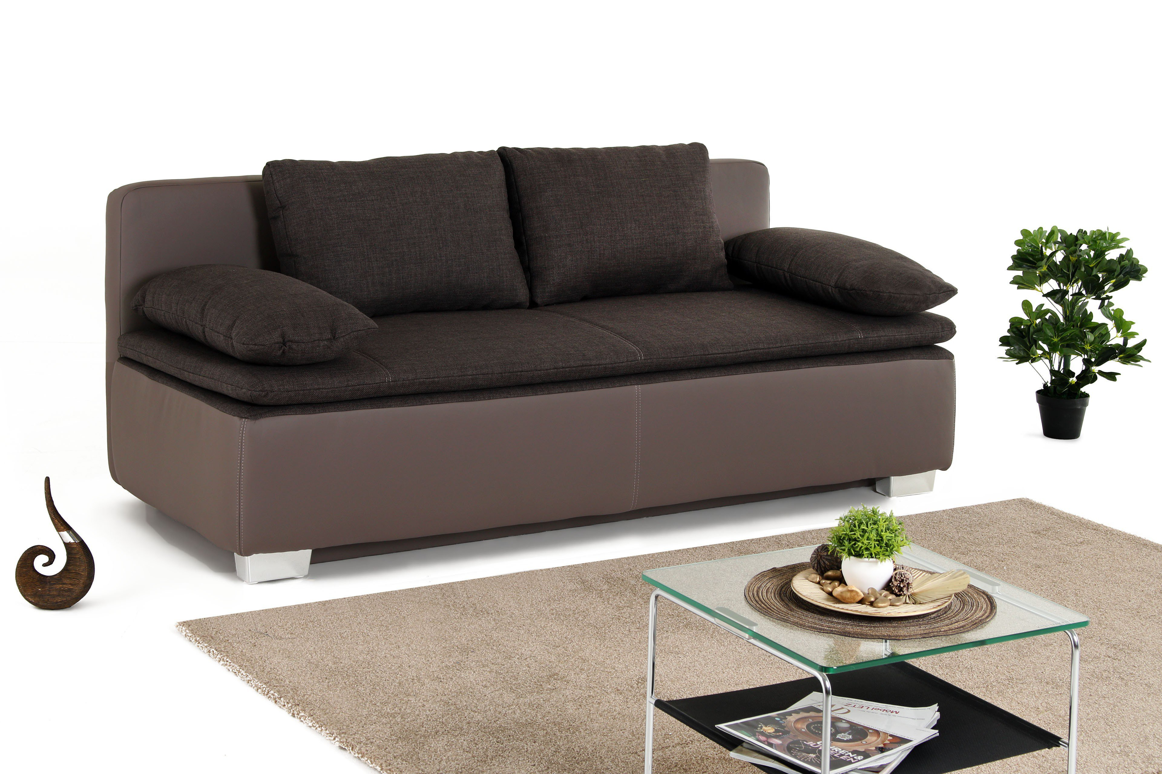 dauerschlafsofa duett in braun von jockenh fer m bel letz ihr online shop. Black Bedroom Furniture Sets. Home Design Ideas