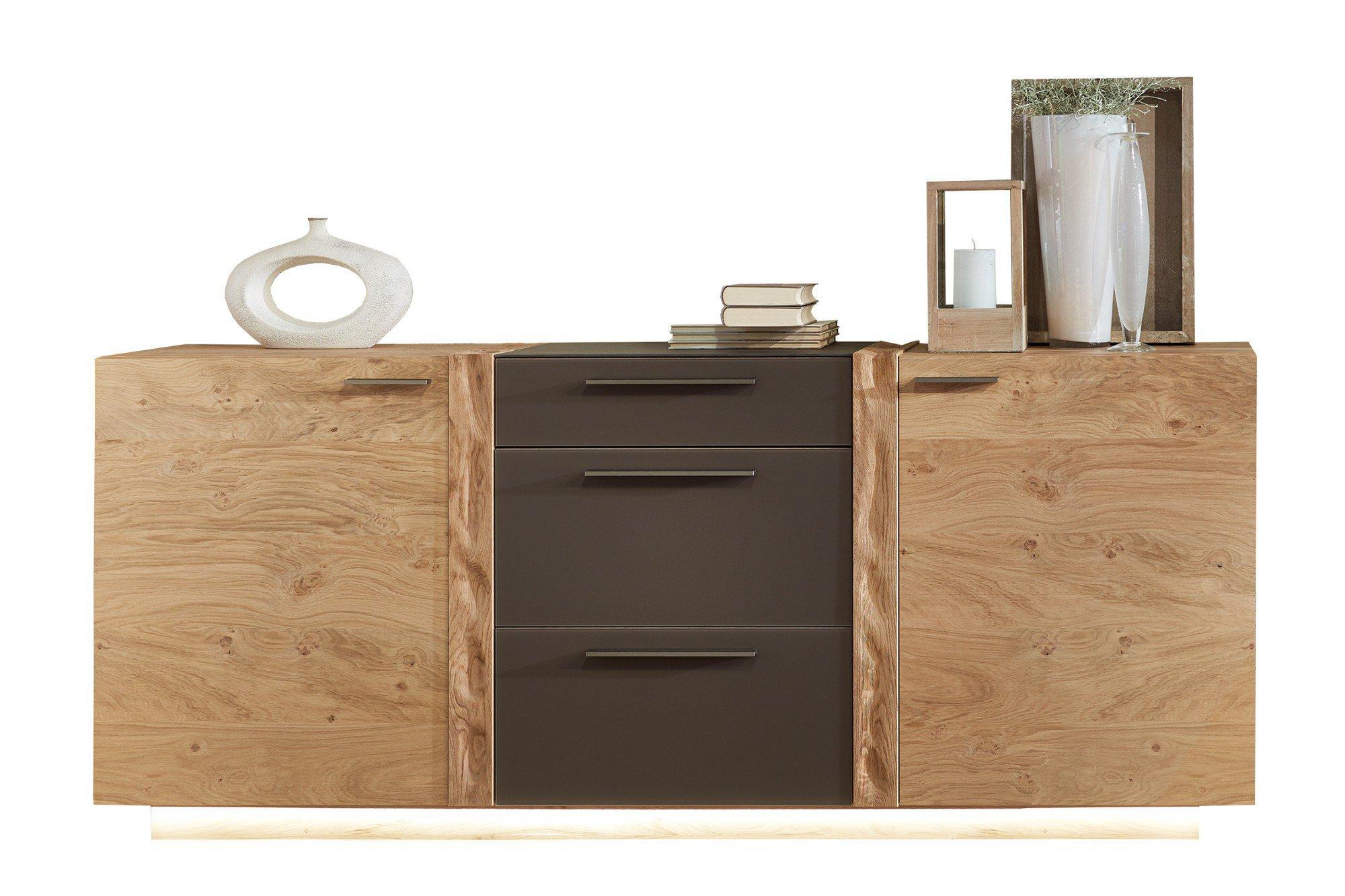 schr der m bel sideboard kitzalm alpin wildasteiche glas terra m bel letz ihr online shop. Black Bedroom Furniture Sets. Home Design Ideas