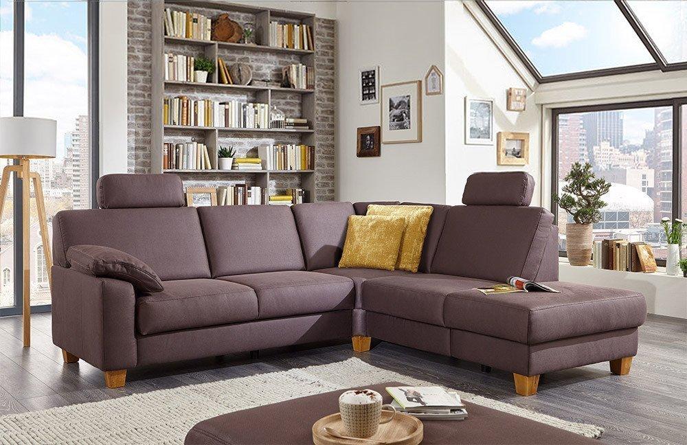 sit more home basic belfort sofa braun m bel letz ihr online shop. Black Bedroom Furniture Sets. Home Design Ideas