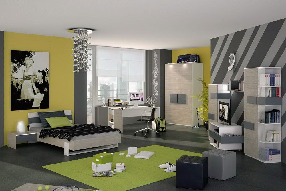 r hr bush hilight 323 jugendzimmer anthrazit m bel letz ihr online shop. Black Bedroom Furniture Sets. Home Design Ideas