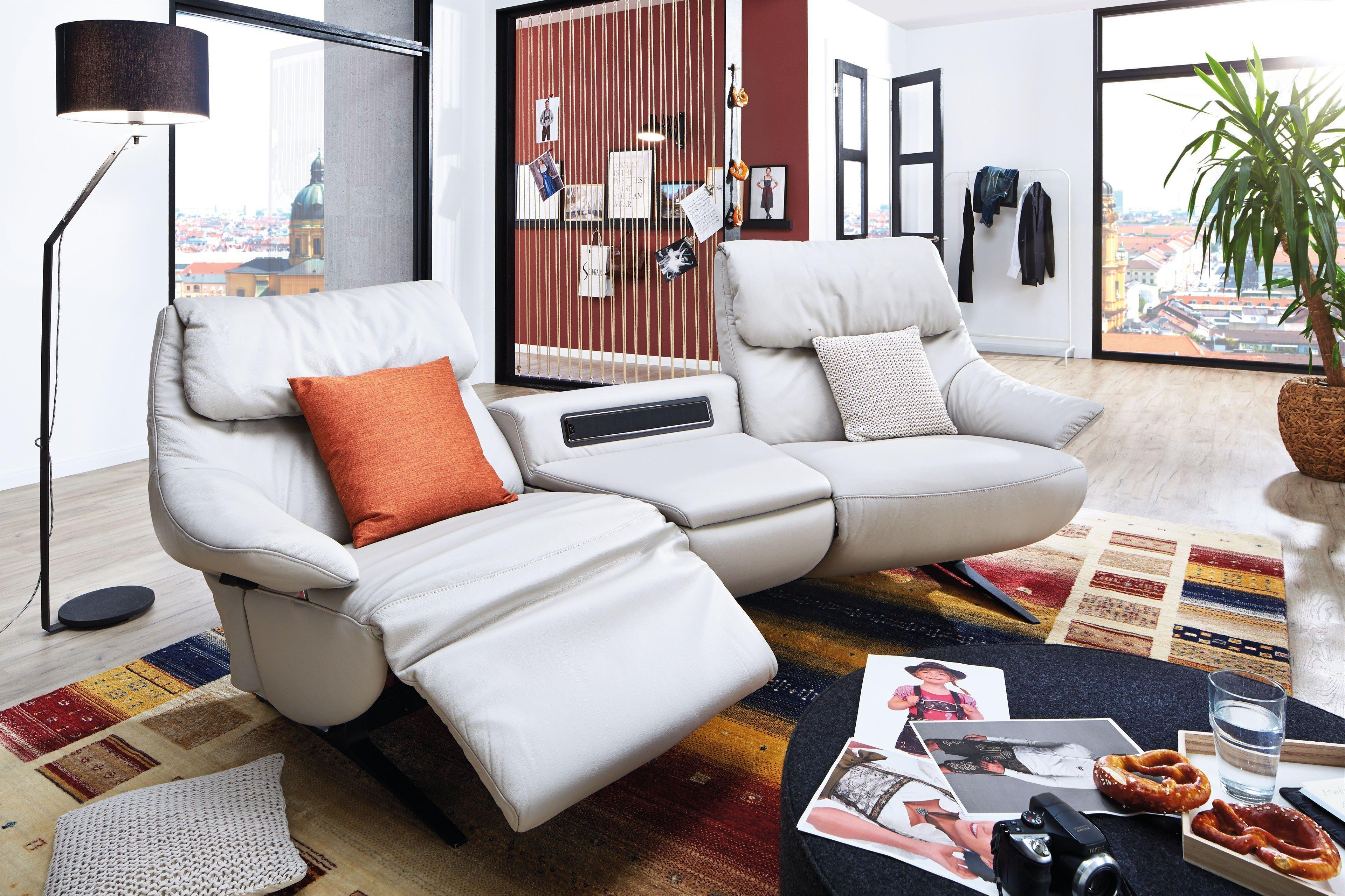 himolla polsterm bel 4602 trapezsofa in hellgrau m bel. Black Bedroom Furniture Sets. Home Design Ideas
