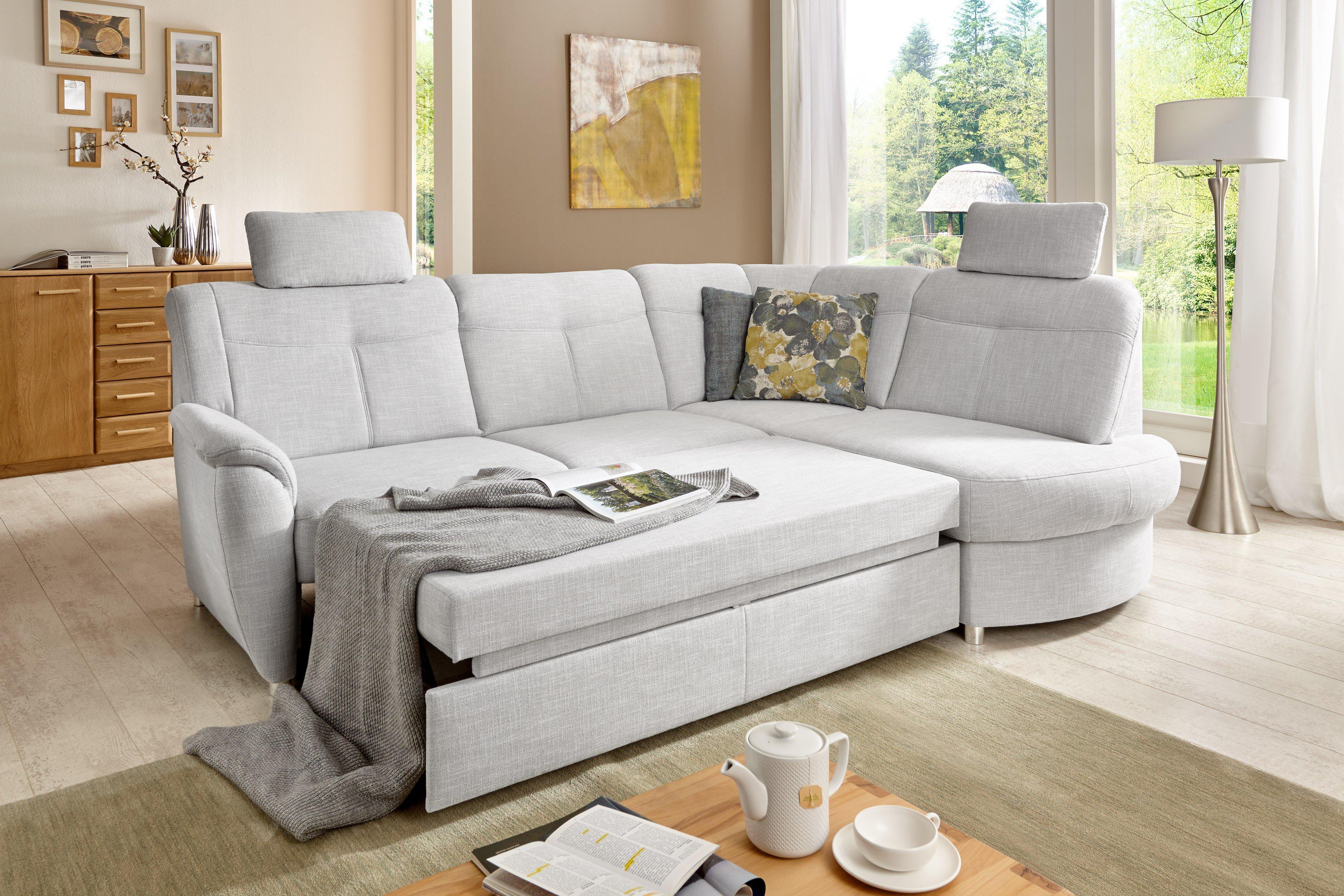 Sit & More Sonoma Ecksofa hellgrau | Möbel Letz - Ihr Online-Shop