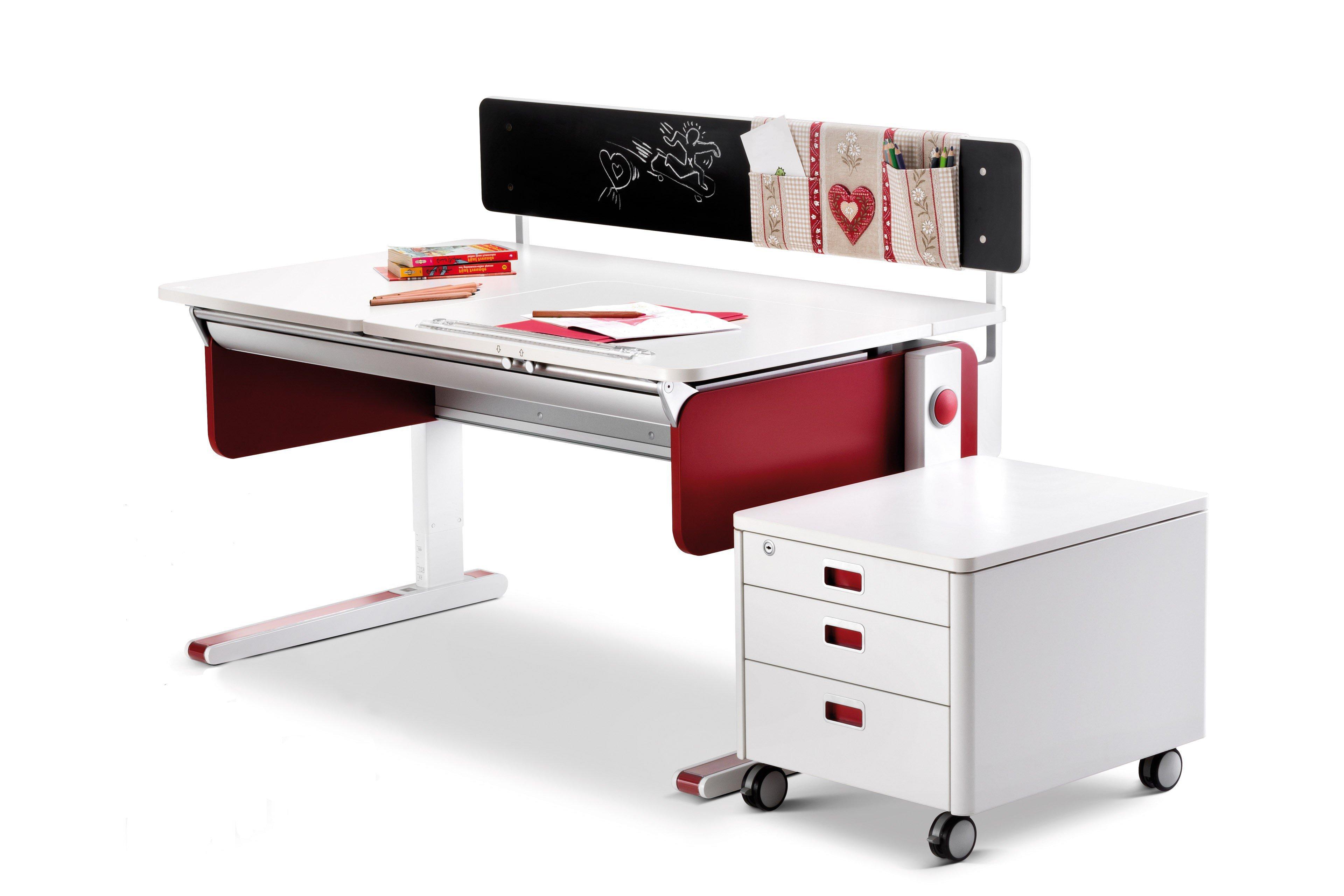 moll Champion Schreibtisch right up rot | Möbel Letz - Ihr Online-Shop