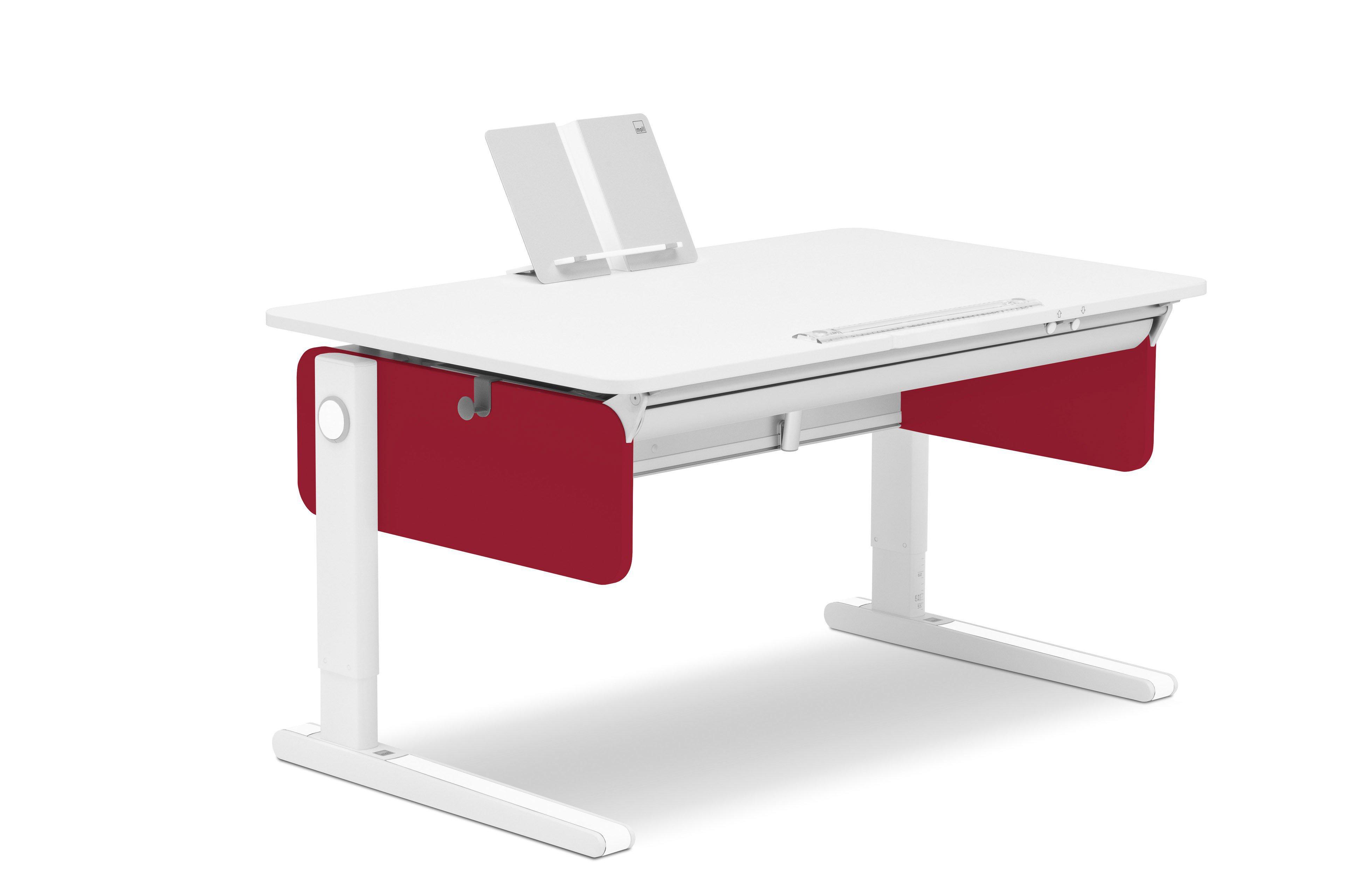 moll Champion Schreibtisch right up rot   Möbel Letz - Ihr Online-Shop
