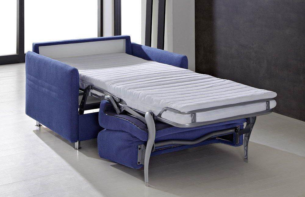 Schlafsessel mit lattenrost  Messina von Bali Polstermöbel - Schlafsofa-Sessel blau | Möbel ...