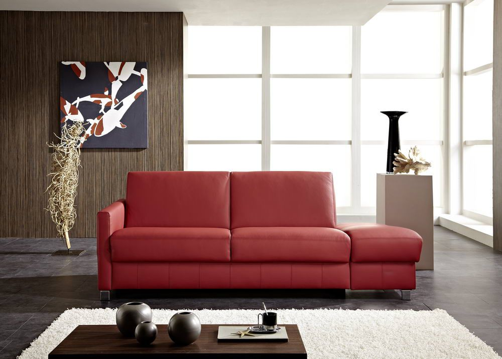 messina von bali polsterm bel schlafsofa leder rot. Black Bedroom Furniture Sets. Home Design Ideas