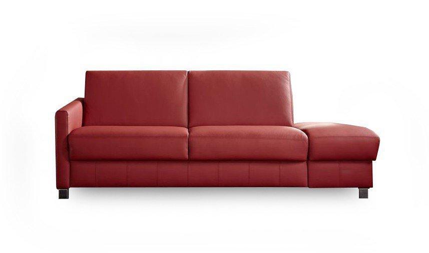 messina von bali polsterm bel schlafsofa leder rot. Black Bedroom Furniture Sets. Home Design Ideas