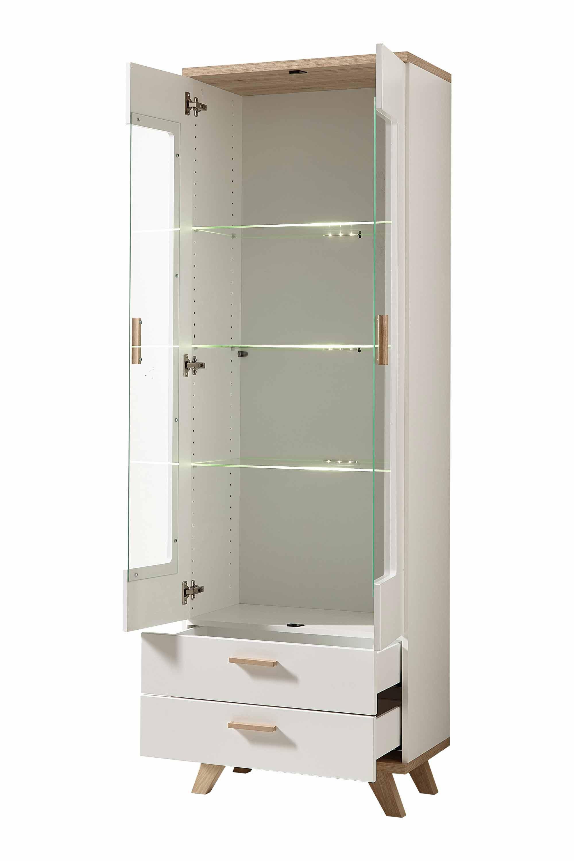 germania vitrine wei sanremo eiche m bel letz ihr online shop. Black Bedroom Furniture Sets. Home Design Ideas