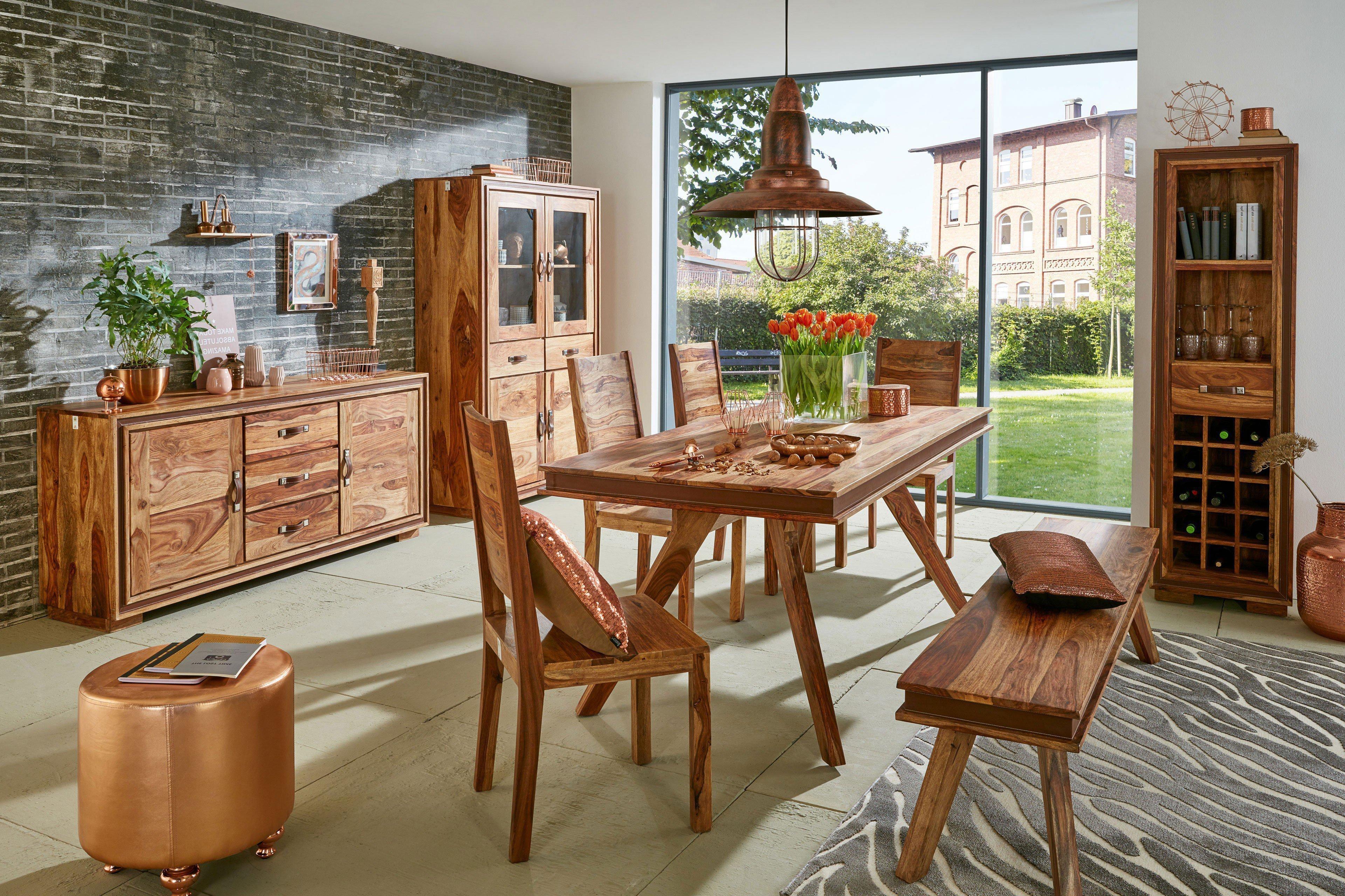 wolf m bel bank 6327 k shan sheesham kunstleder m bel. Black Bedroom Furniture Sets. Home Design Ideas