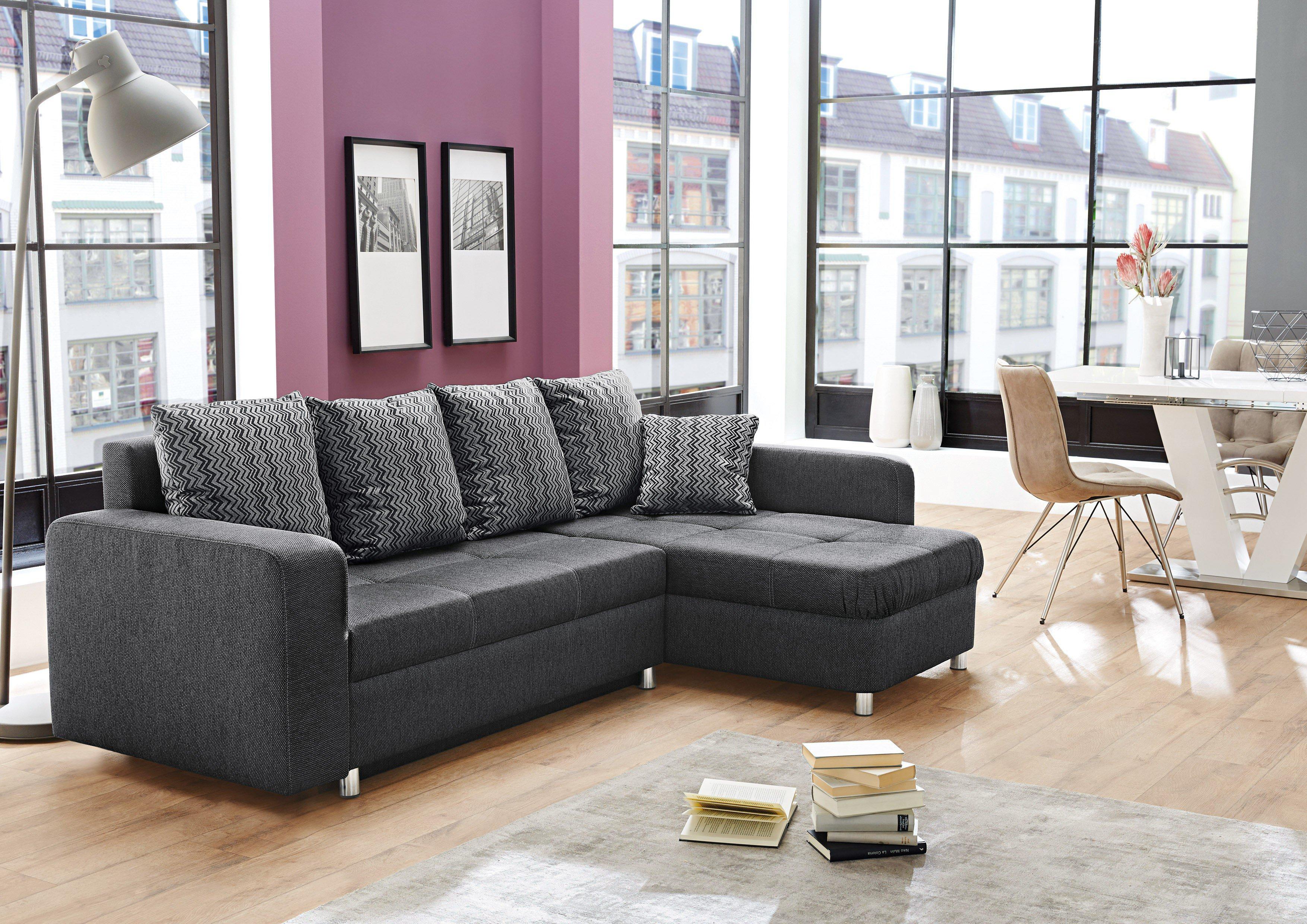 jockenh fer lyon ecksofa schwarz m bel letz ihr online shop. Black Bedroom Furniture Sets. Home Design Ideas