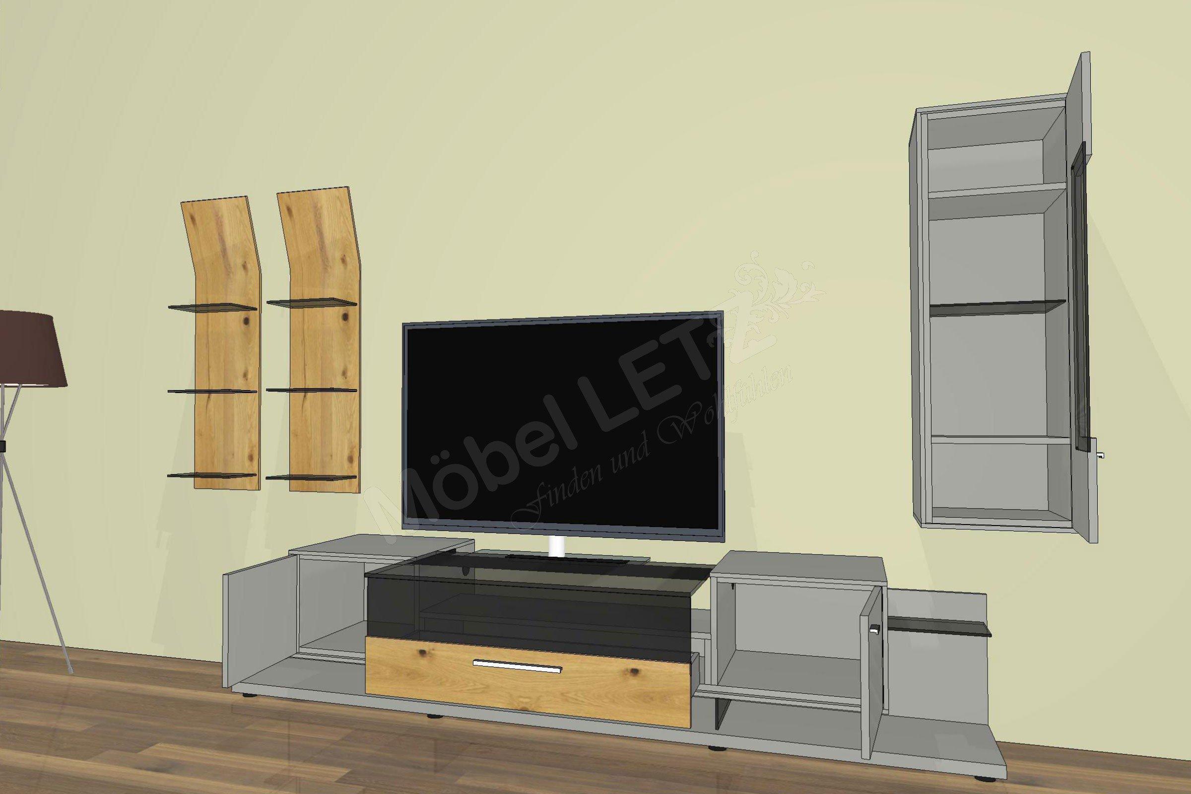 gwinner wohnwand media concept mc902 balkeneiche fango m bel letz ihr online shop. Black Bedroom Furniture Sets. Home Design Ideas