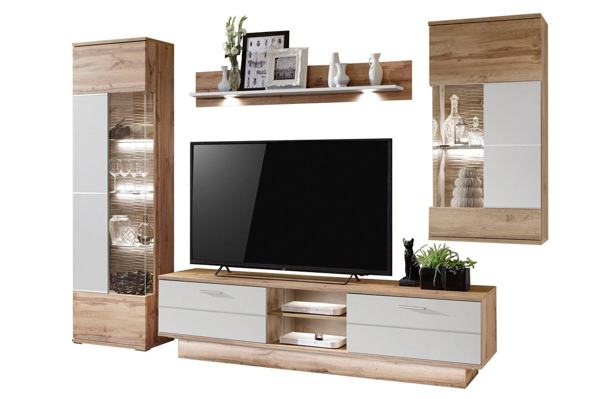 ideal m bel wohnwand alfonso wotan eiche m bel letz. Black Bedroom Furniture Sets. Home Design Ideas