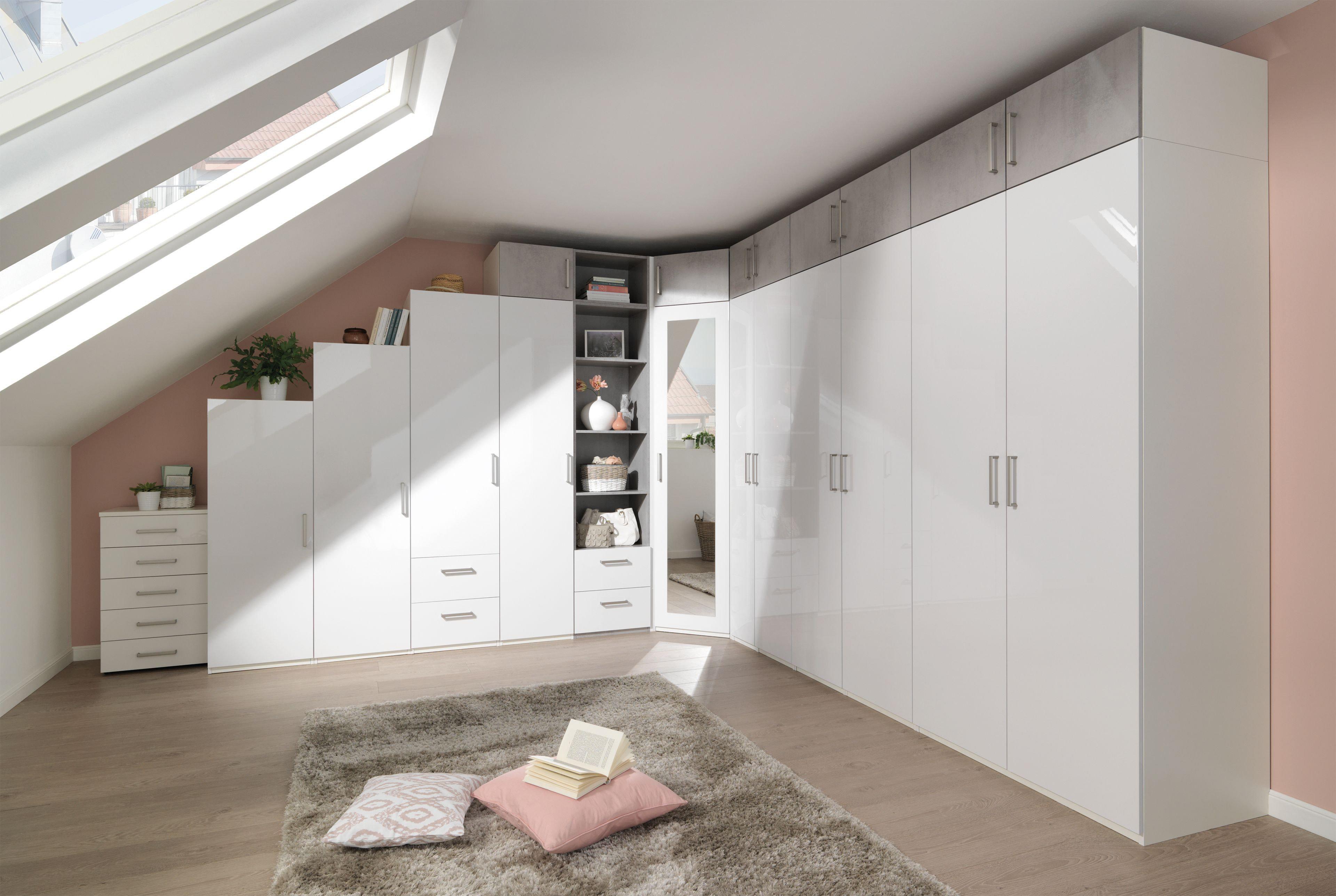 Kleiderschrank Dachschräge wellemöbel ksw 2 0 kleider schrank beton optik möbel letz ihr