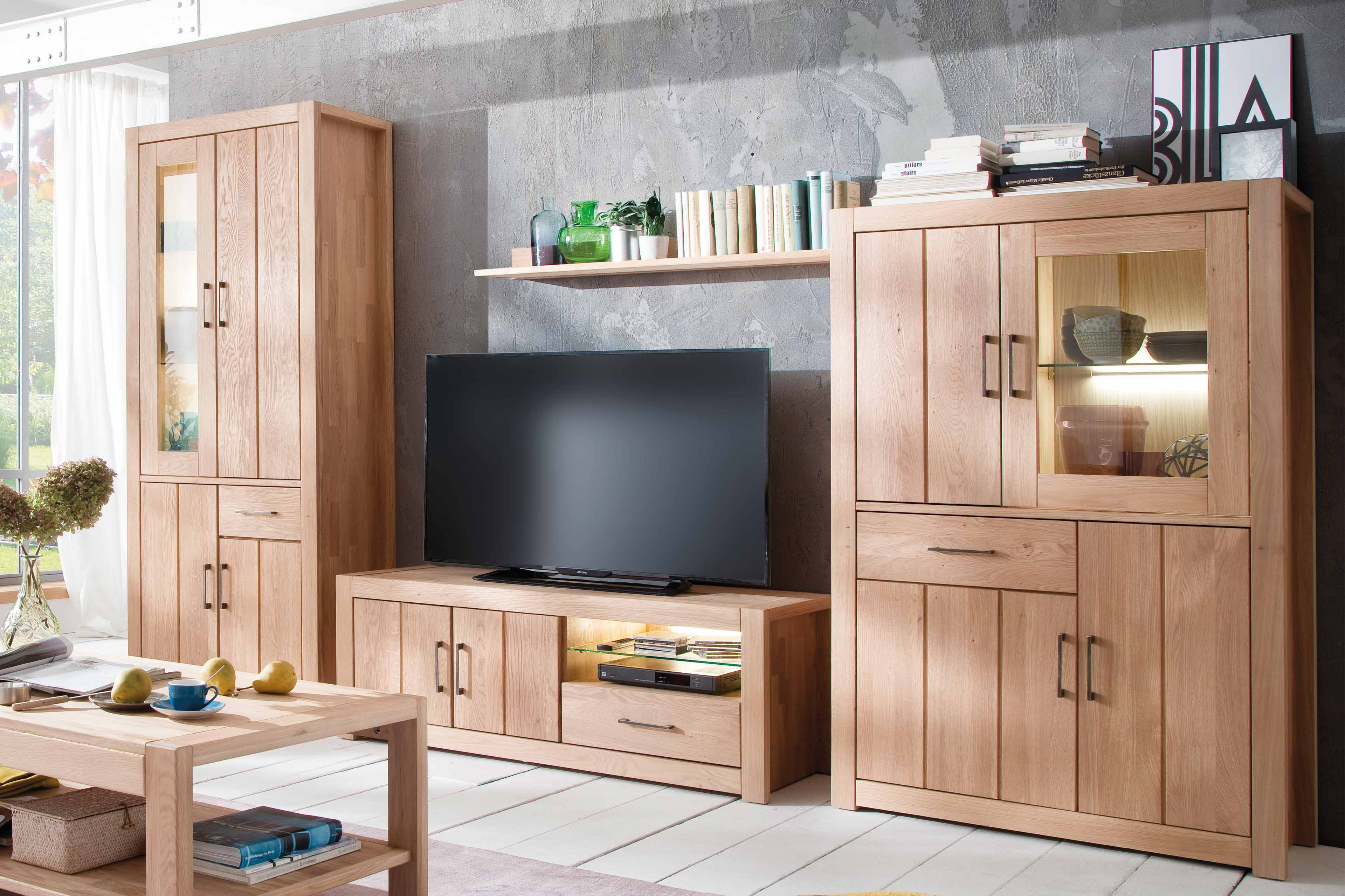 wohnwand cadis wildeiche von casada m bel letz ihr online shop. Black Bedroom Furniture Sets. Home Design Ideas