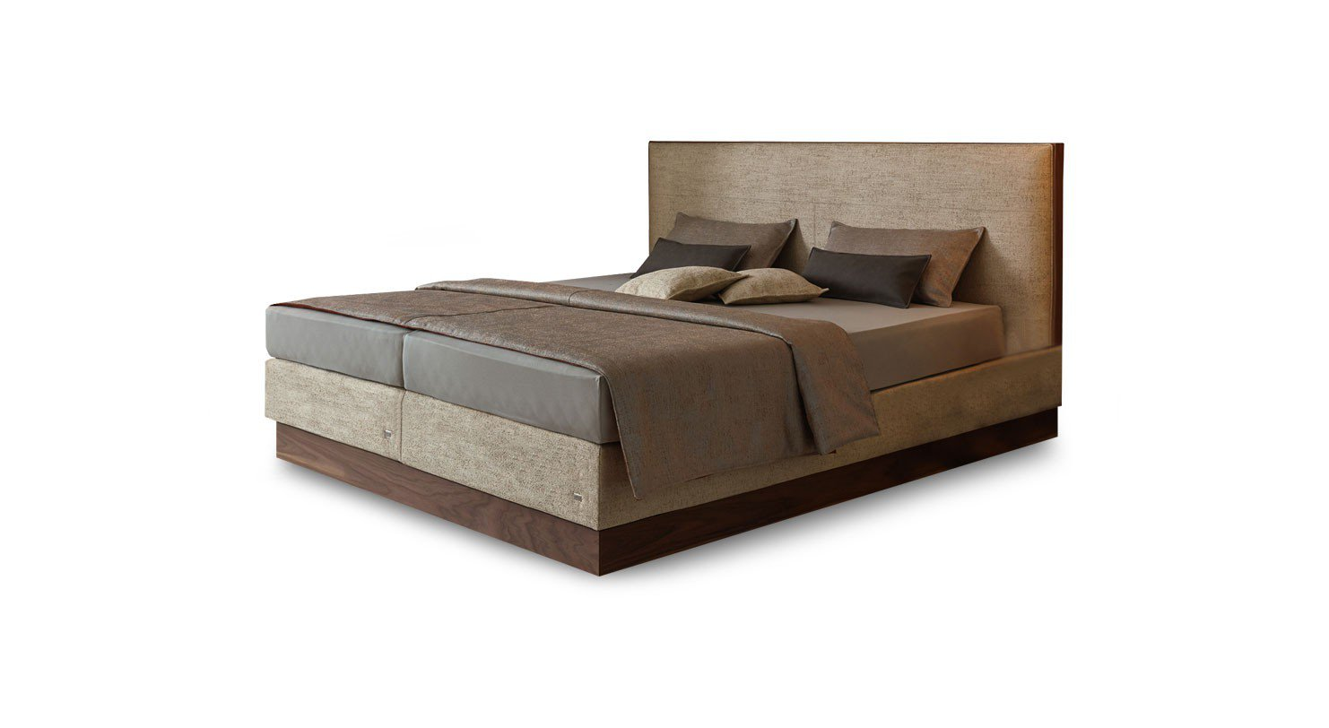 ruf mior boxspringbett beige mit sockelblende m bel letz ihr online shop. Black Bedroom Furniture Sets. Home Design Ideas