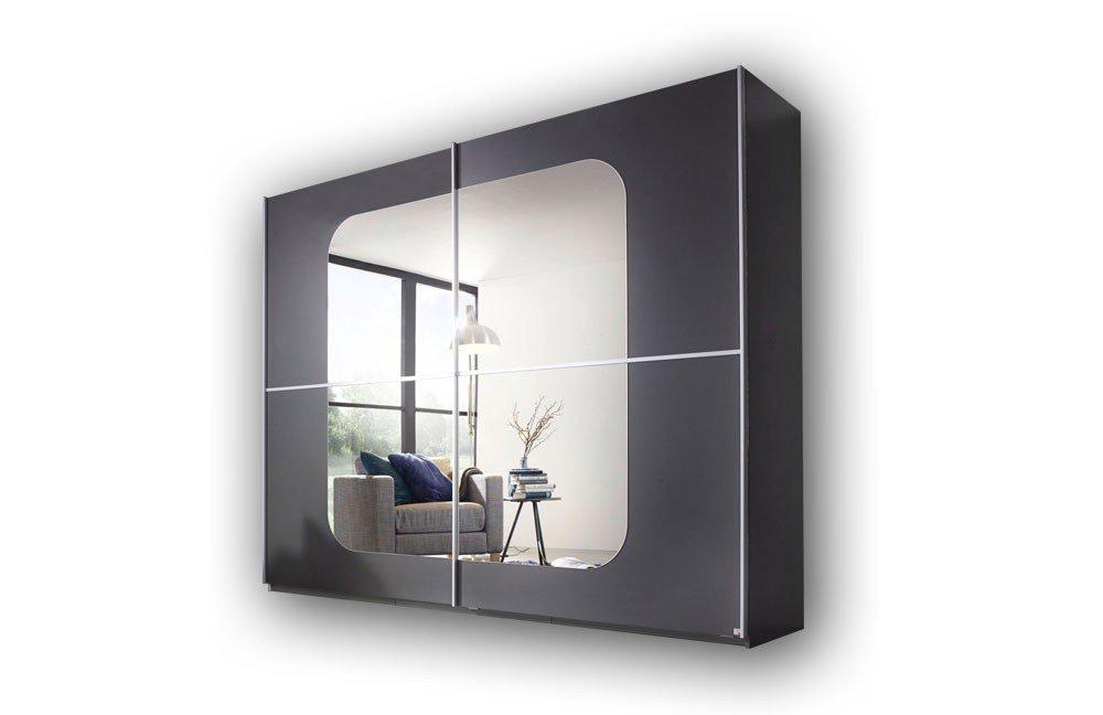 Schrank modern mit spiegel  Rauch Ricona Kleiderschrank graphit | Möbel Letz - Ihr Online-Shop
