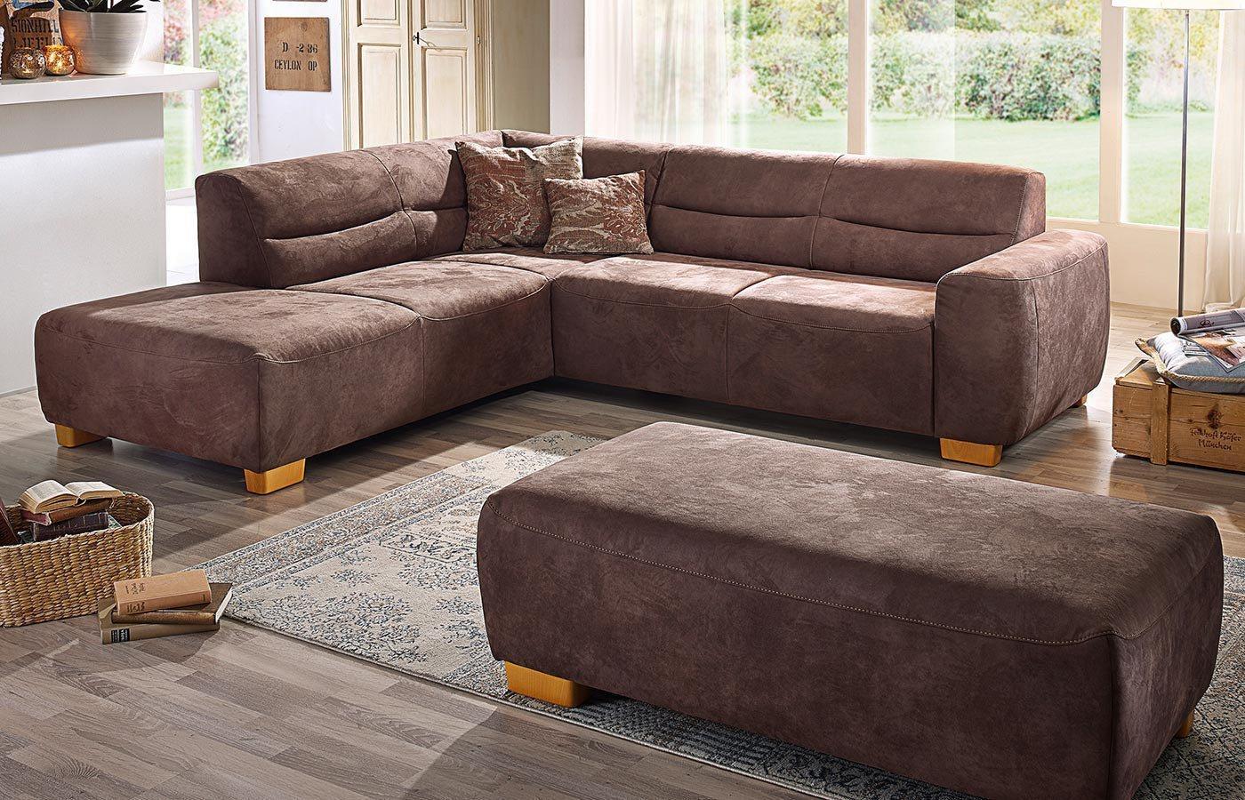 k w polsterm bel bono ecksofa braun m bel letz ihr. Black Bedroom Furniture Sets. Home Design Ideas