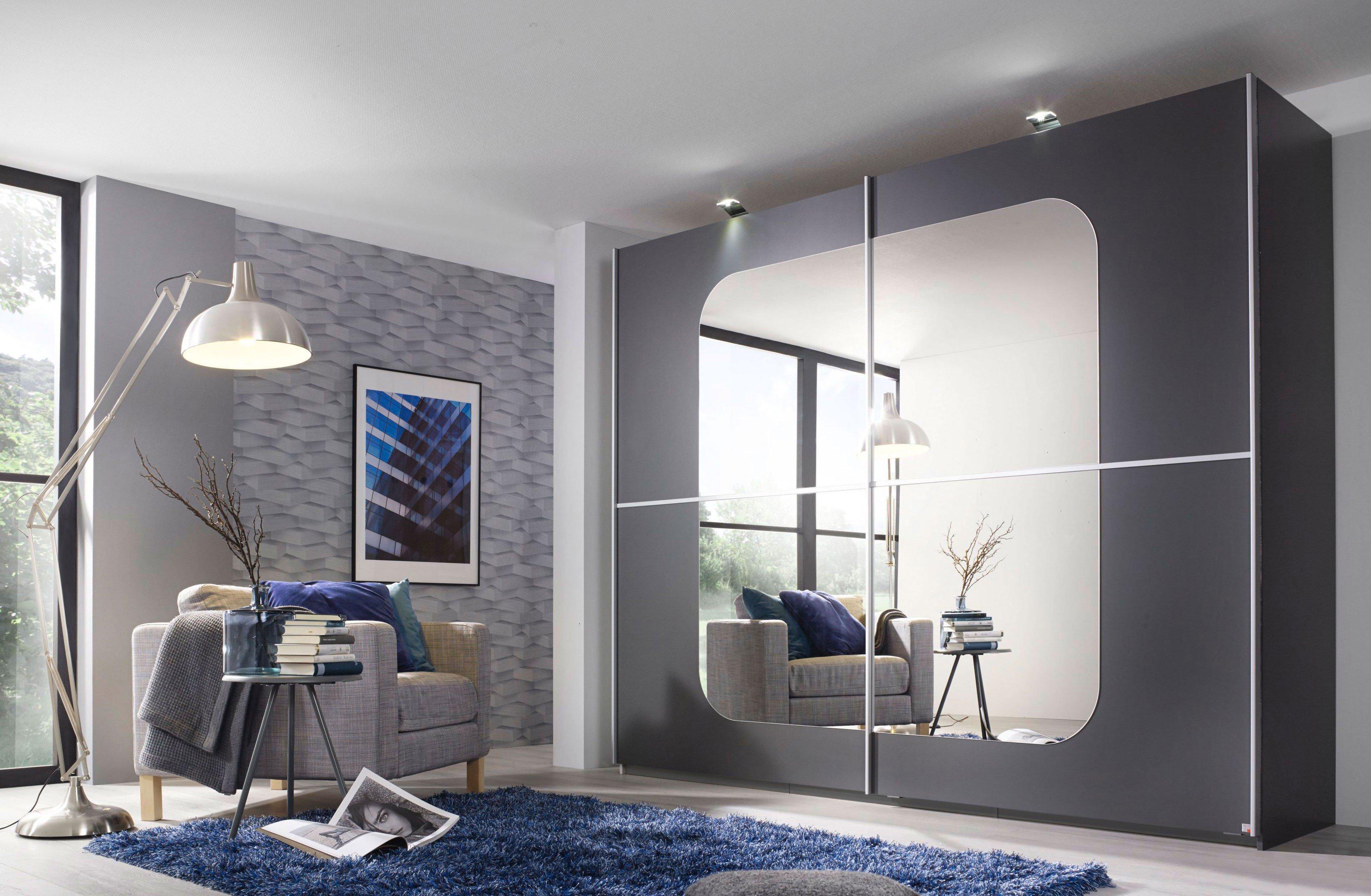 rauch ricona kleiderschrank graphit spiegel m bel letz ihr online shop. Black Bedroom Furniture Sets. Home Design Ideas