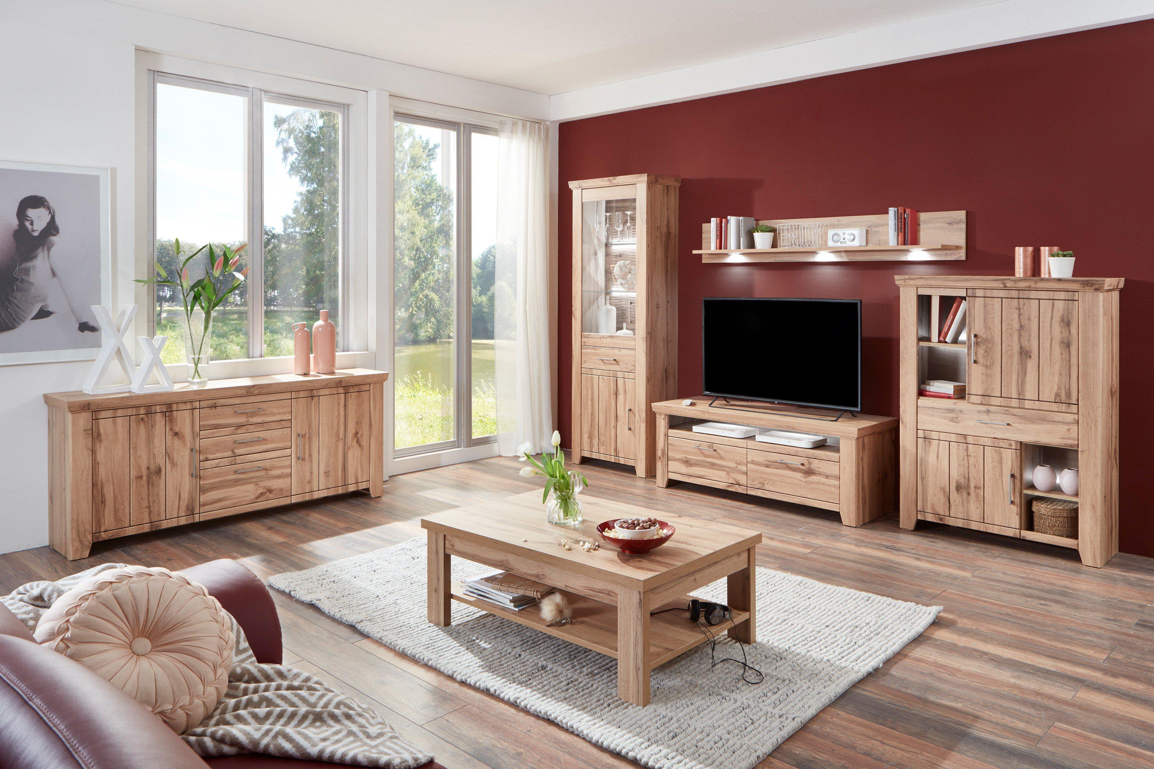 ideal m bel wohnwand stromberg 40 wotan eiche m bel letz ihr online shop. Black Bedroom Furniture Sets. Home Design Ideas