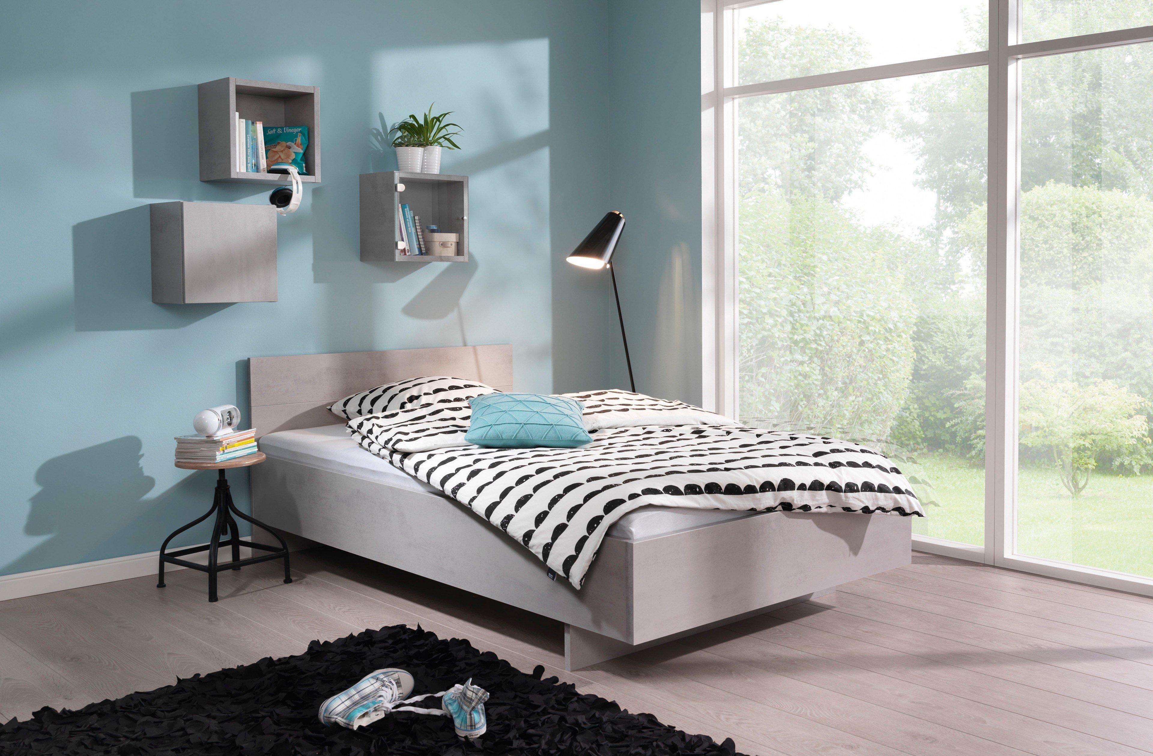 Wellemöbel GROW UP SLEEPING Bett Beton-Optik | Möbel Letz - Ihr ...