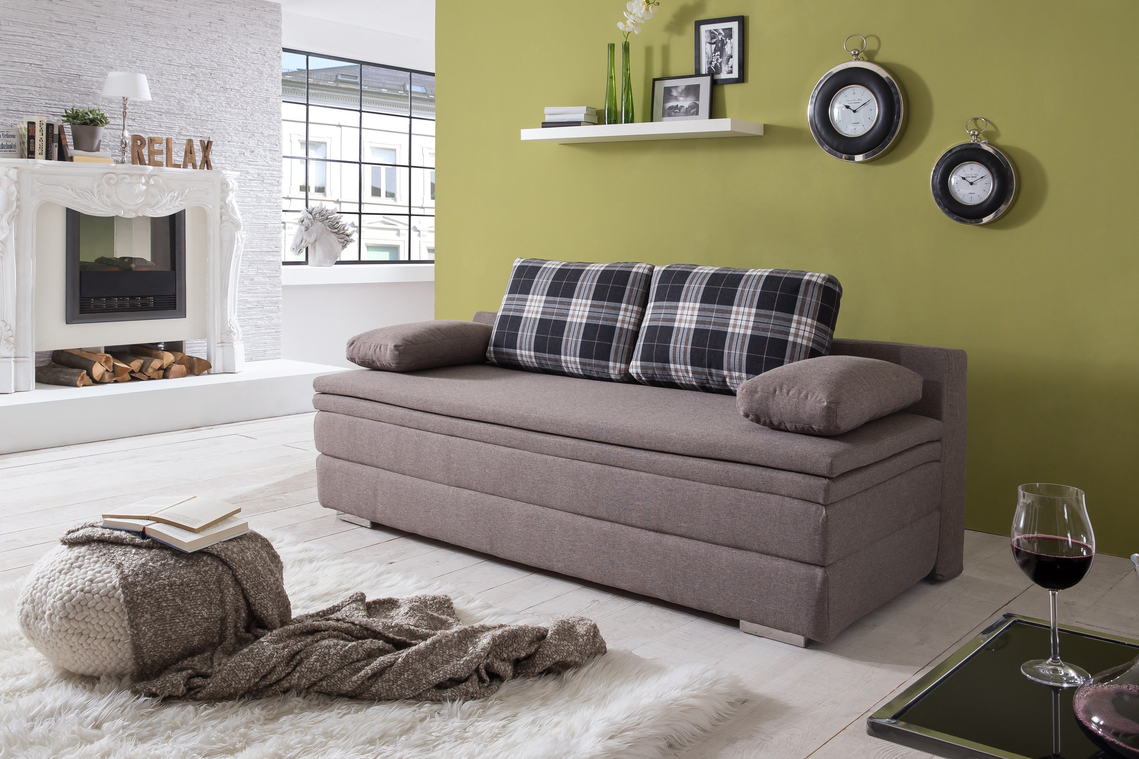 schlafsofa daphne von goldammer mit hohem boxspringaufbau m bel letz ihr online shop. Black Bedroom Furniture Sets. Home Design Ideas