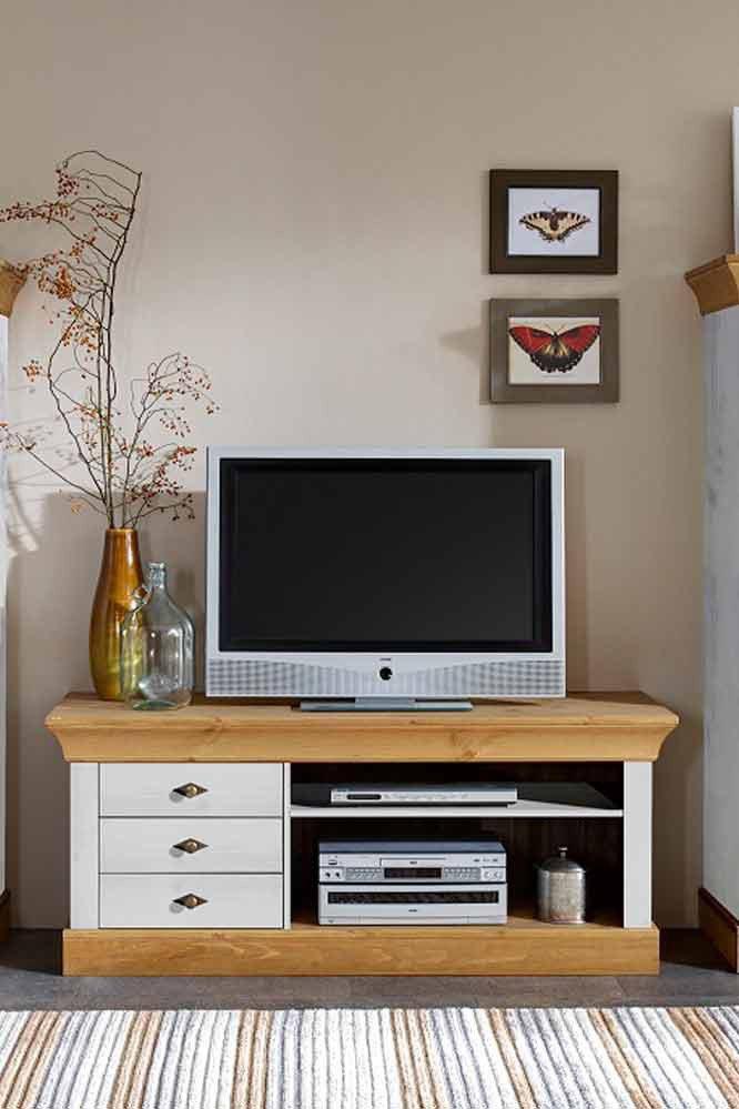 jumek wohnwand bergen kiefer wei laugenfarbig m bel. Black Bedroom Furniture Sets. Home Design Ideas