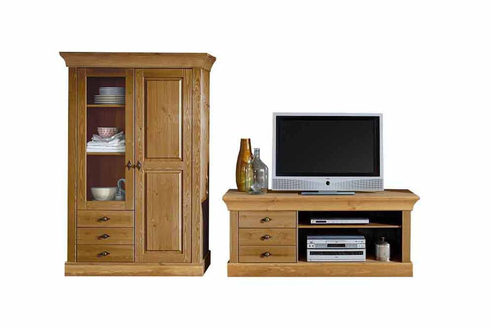 jumek wohnwand bergen kiefer m bel letz ihr online shop. Black Bedroom Furniture Sets. Home Design Ideas