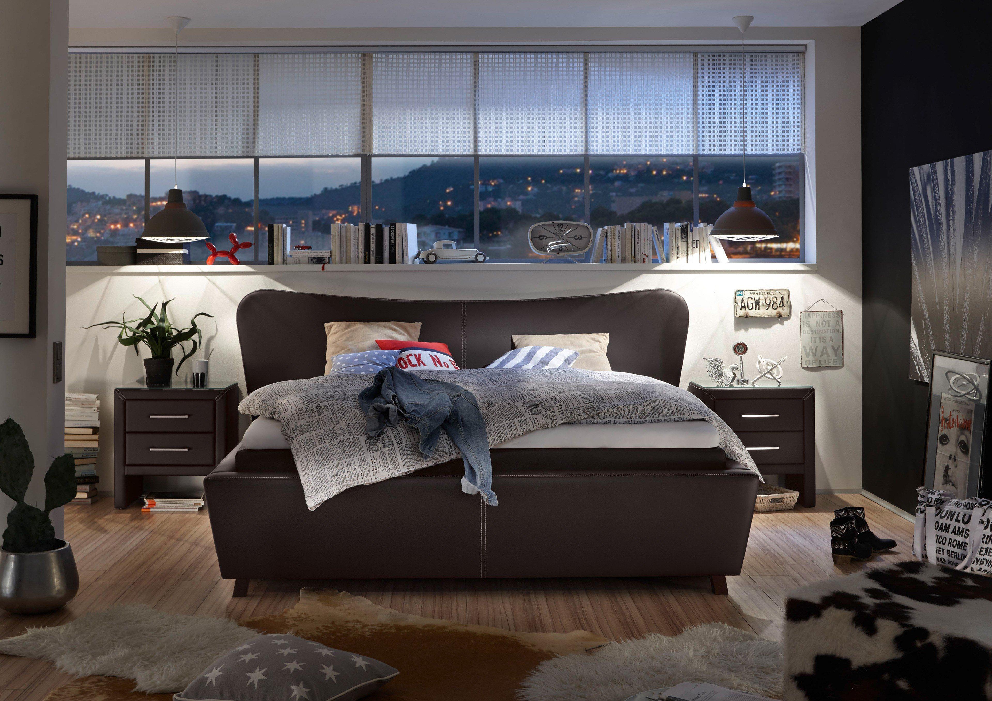 1601 von stellwerk boxspringbett 180 schwarz - Entzuckend Schlafzimmer Schwarz Planung