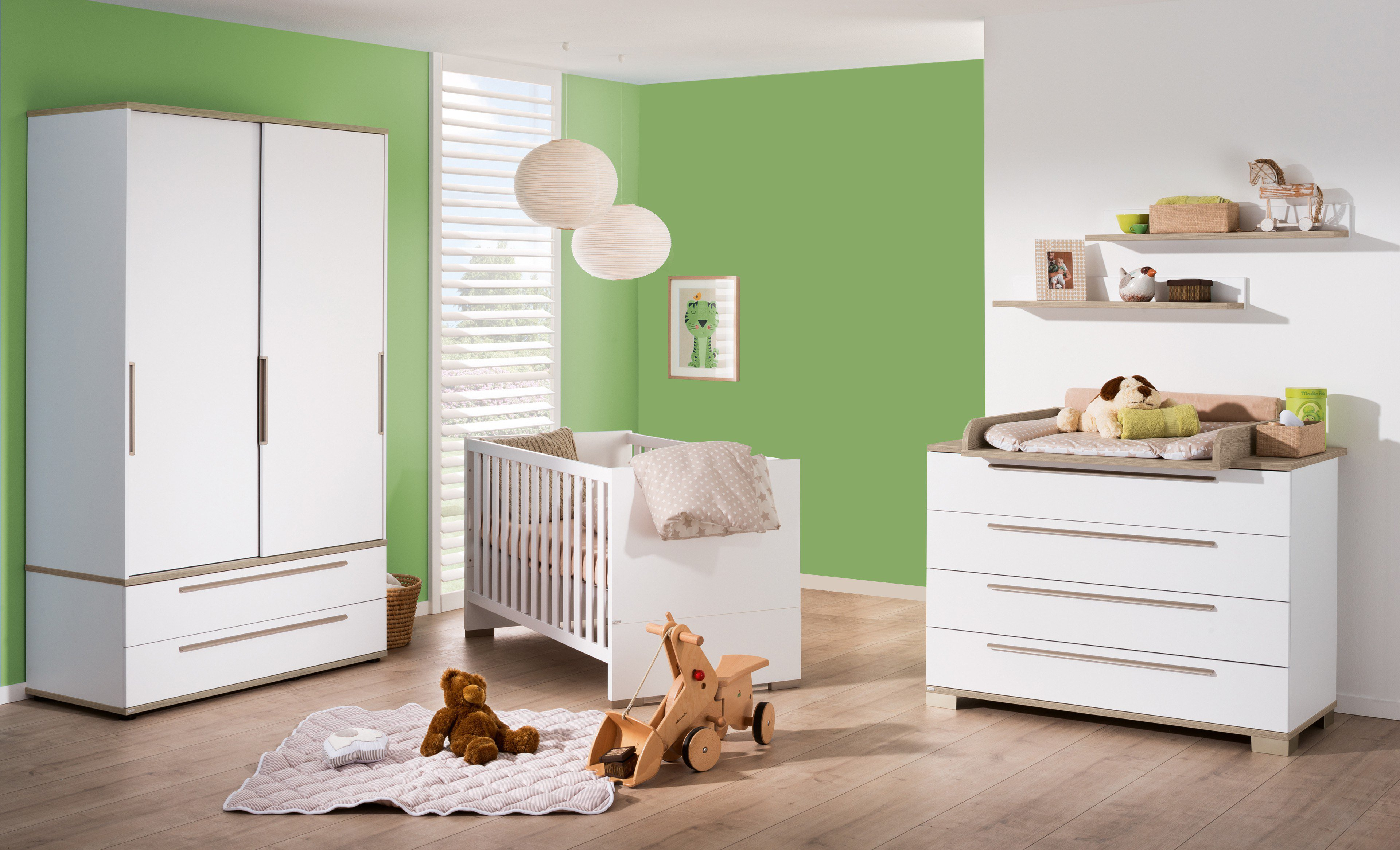 paidi babyzimmer set carlo wei fichte m bel letz ihr online shop. Black Bedroom Furniture Sets. Home Design Ideas