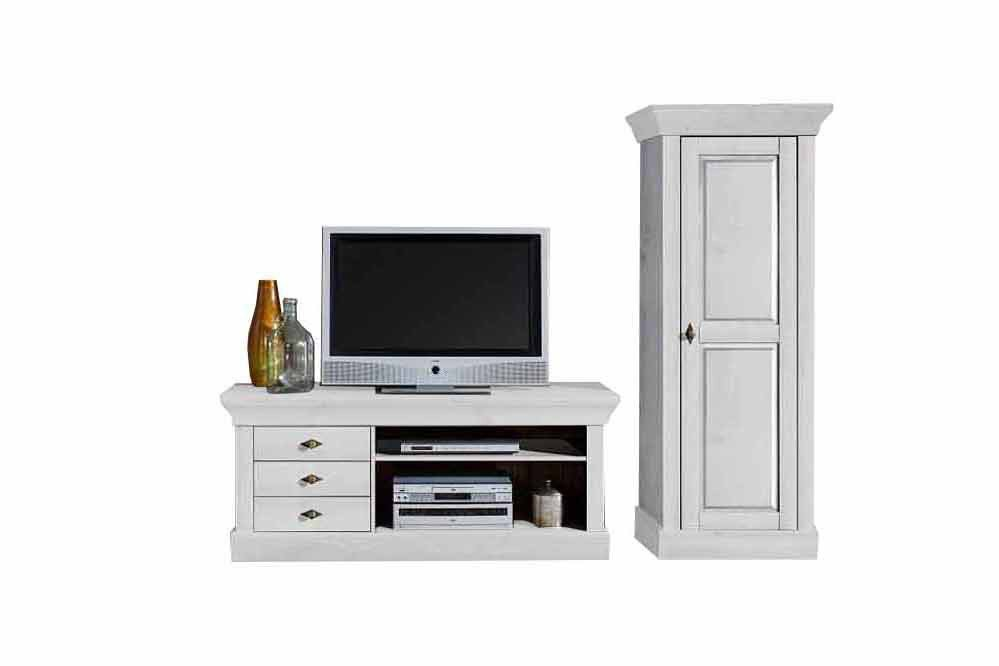 jumek wohnwand bergen kiefer wei m bel letz ihr online shop. Black Bedroom Furniture Sets. Home Design Ideas