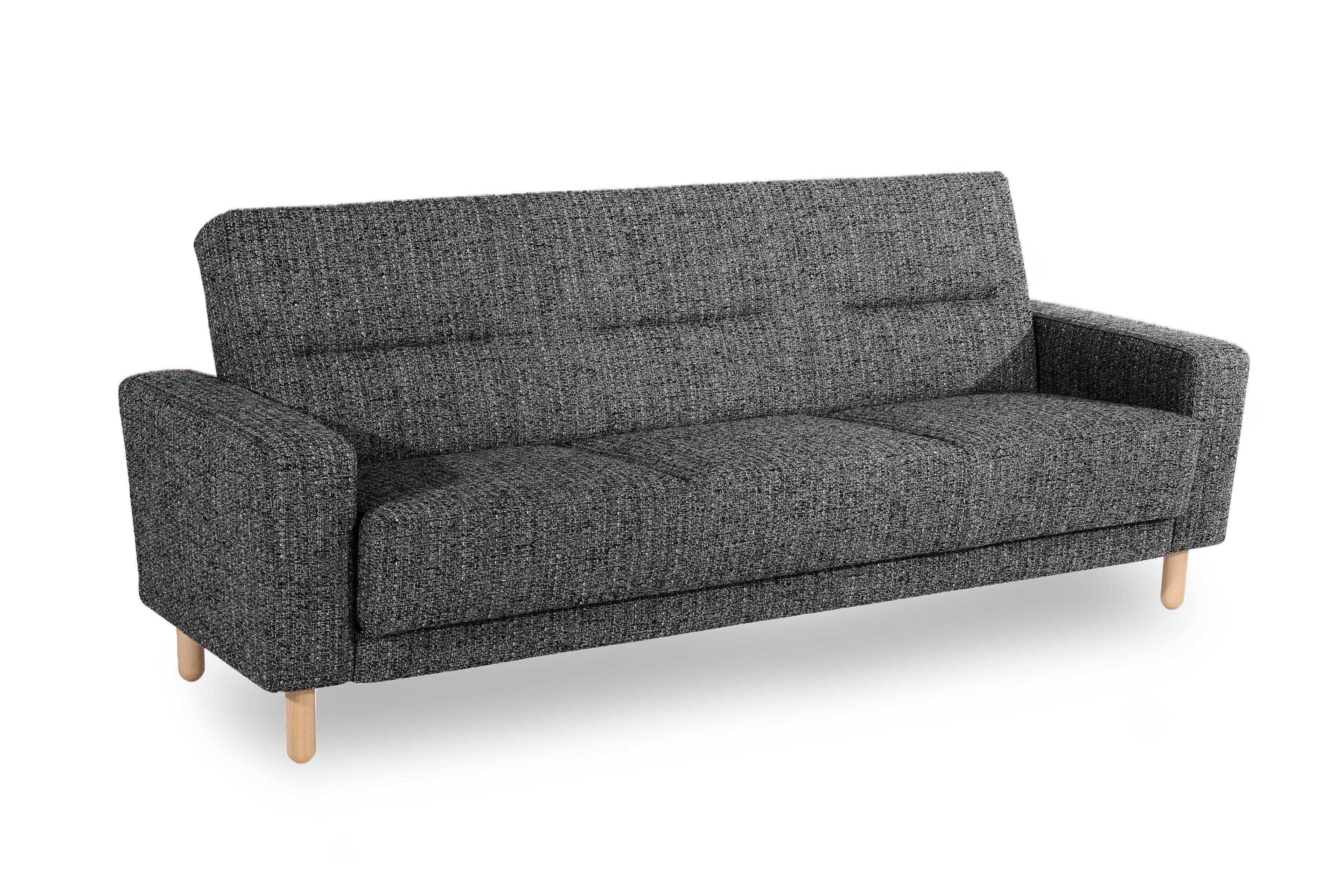 max winzer janis couch schwarz wei meliert m bel letz ihr online shop. Black Bedroom Furniture Sets. Home Design Ideas