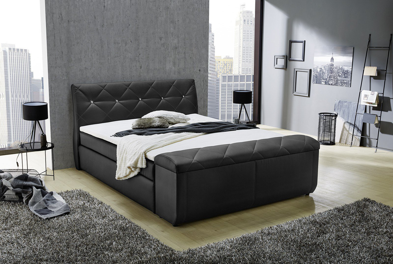 jockenh fer boxspringbett sementha sarah mit glitzersteinapplikation m bel letz ihr online. Black Bedroom Furniture Sets. Home Design Ideas