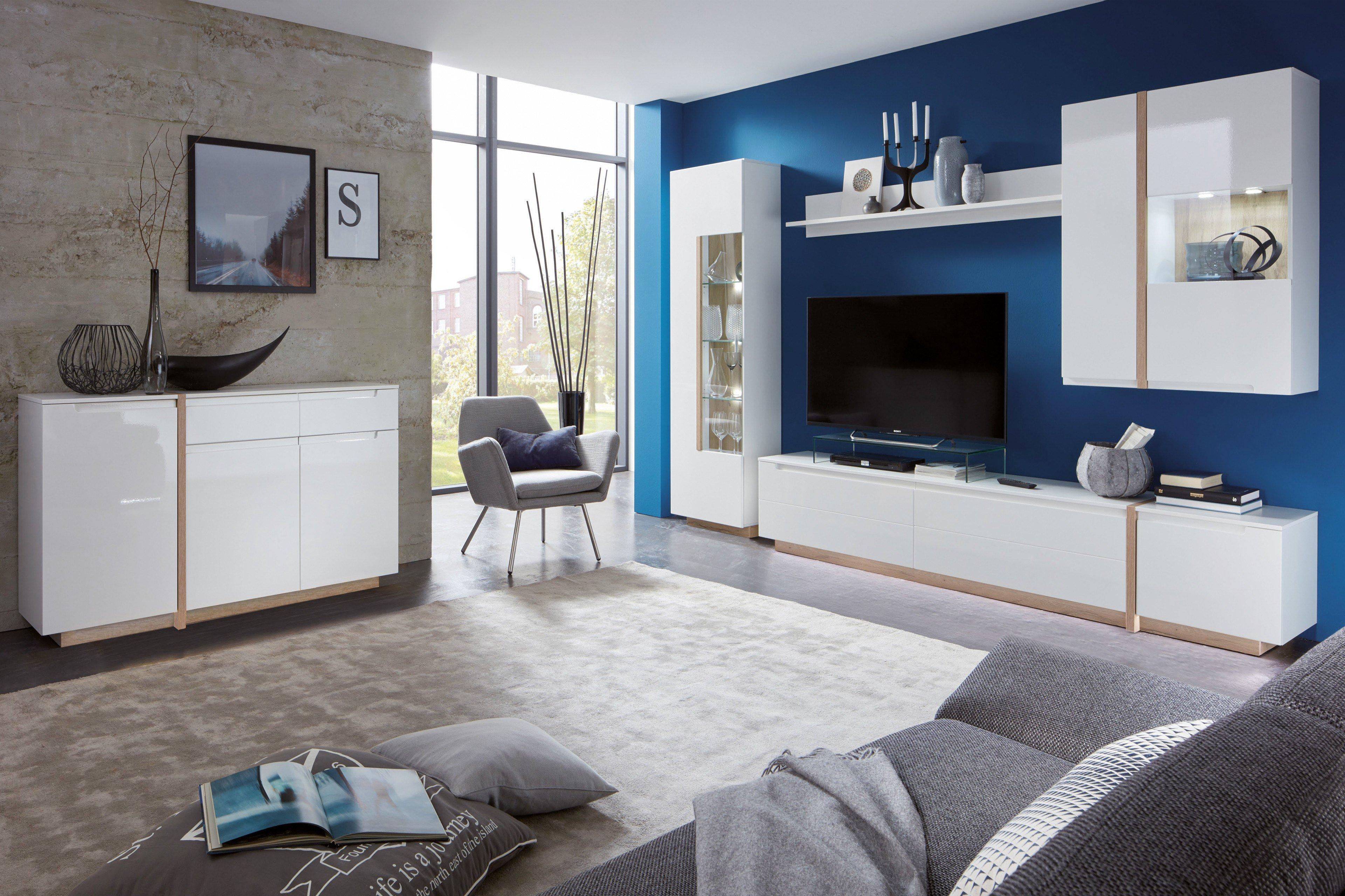 Wohnzimmermöbel weiß matt  Inter-Furn Wohnwände | Möbel Letz – Ihr Online-Shop