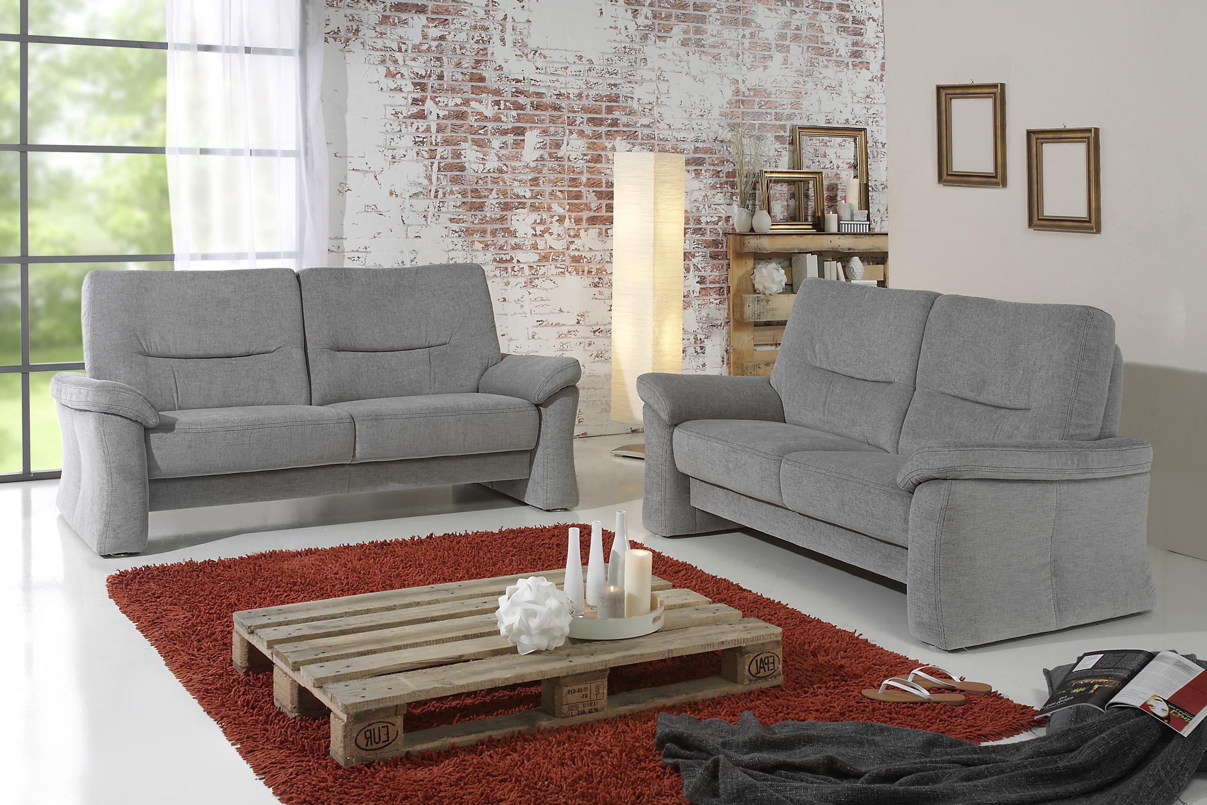 Arco Polstermöbel 7020 Sofagruppe hellgrau | Möbel Letz - Ihr ...