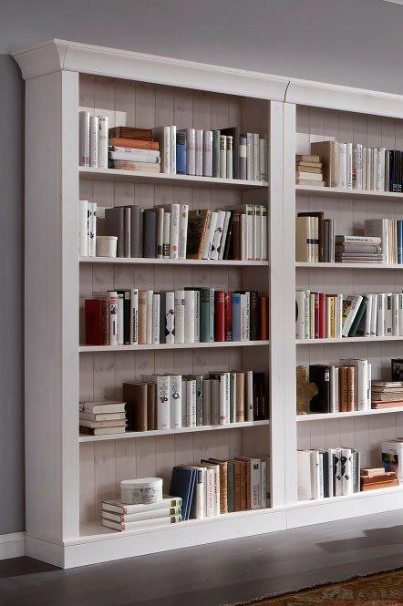 Bücherregal weiß  Jumek Bücherregal Bergen Kiefer massiv weiß | Möbel Letz - Ihr ...