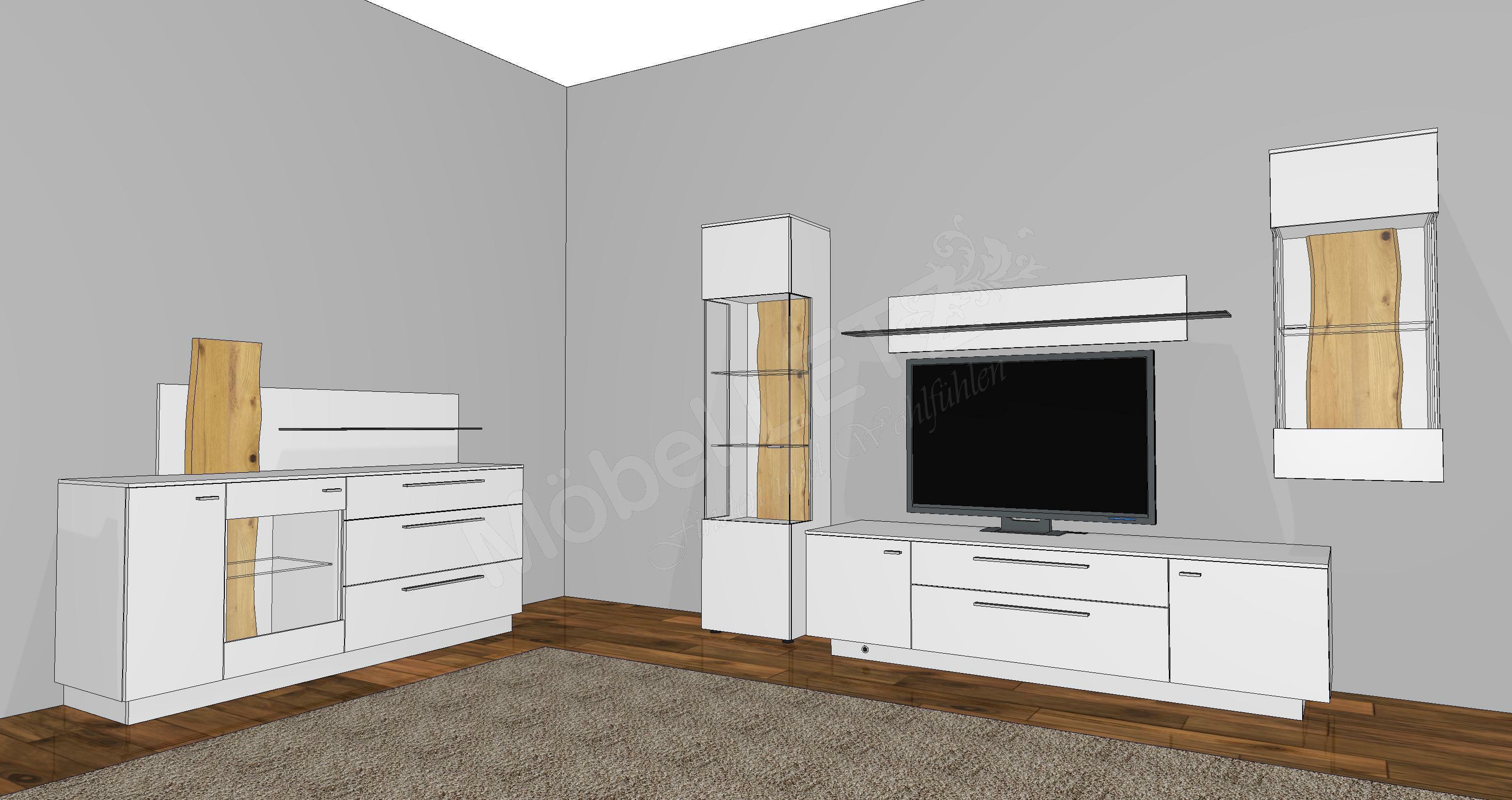 gwinner wohnwand lucca lc8 kaschmir eiche m bel letz. Black Bedroom Furniture Sets. Home Design Ideas