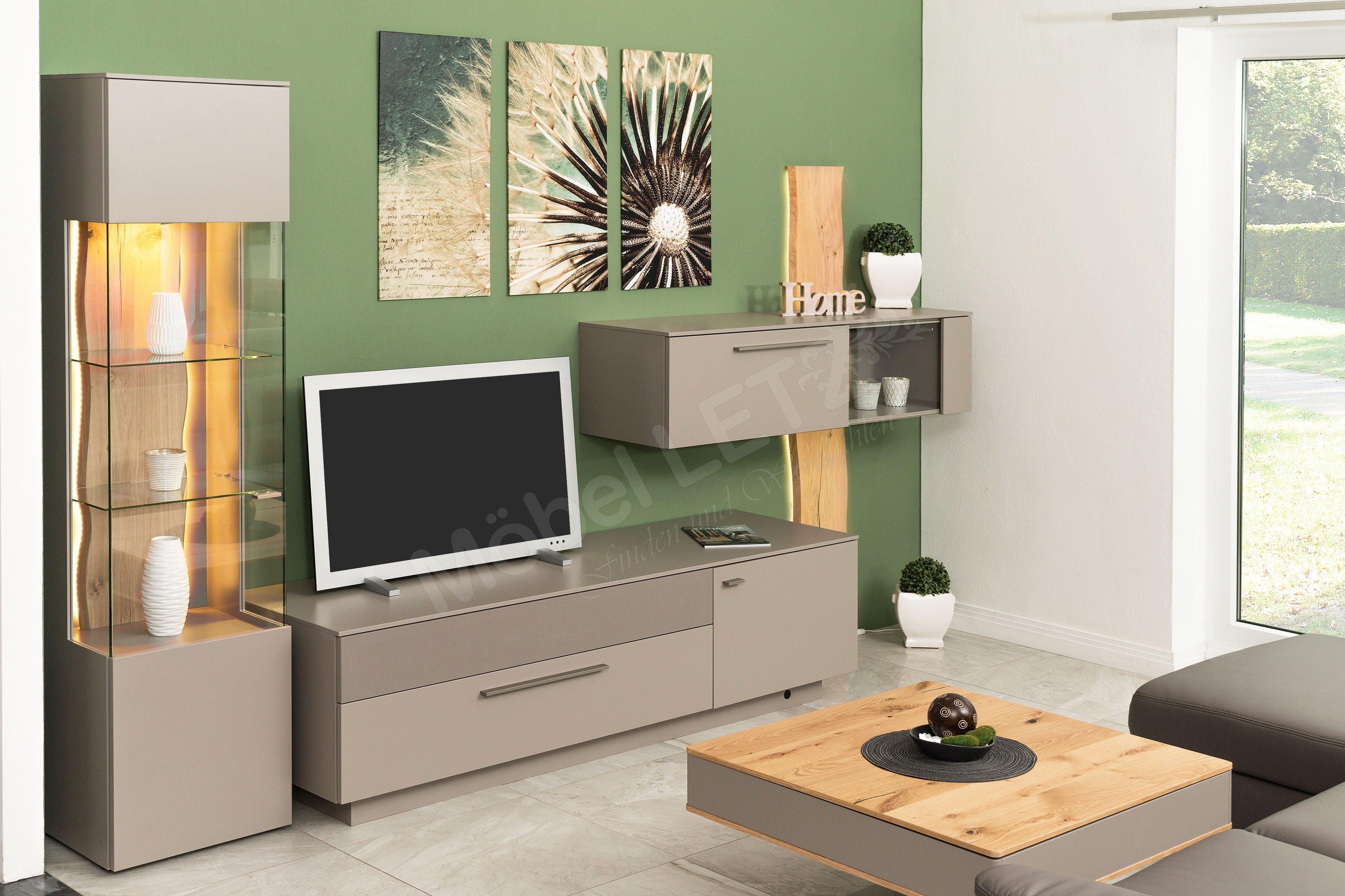 gwinner wohnwand lucca lc6 eiche natur kaschmir m bel letz ihr online shop. Black Bedroom Furniture Sets. Home Design Ideas