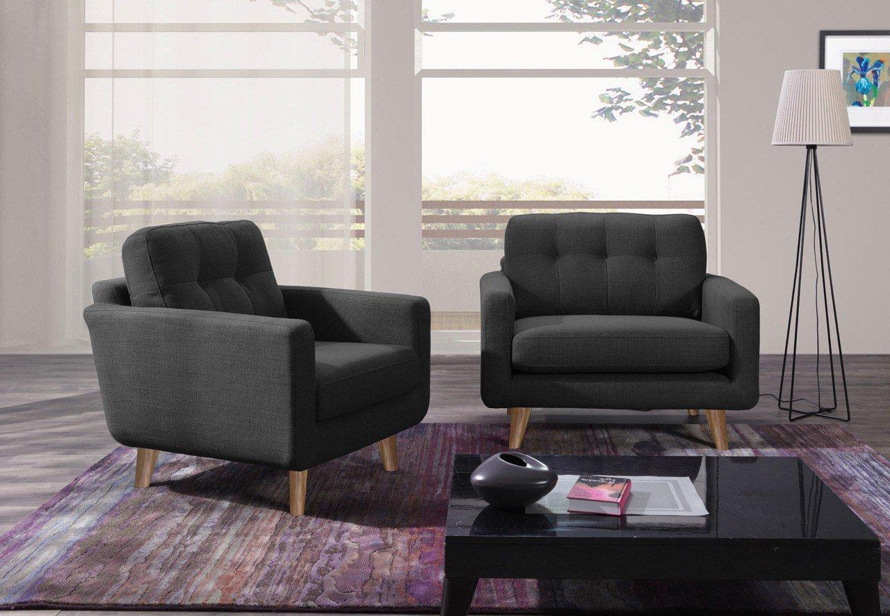 new look m bel alexander einzelsessel in dunkelgrau m bel letz ihr online shop. Black Bedroom Furniture Sets. Home Design Ideas