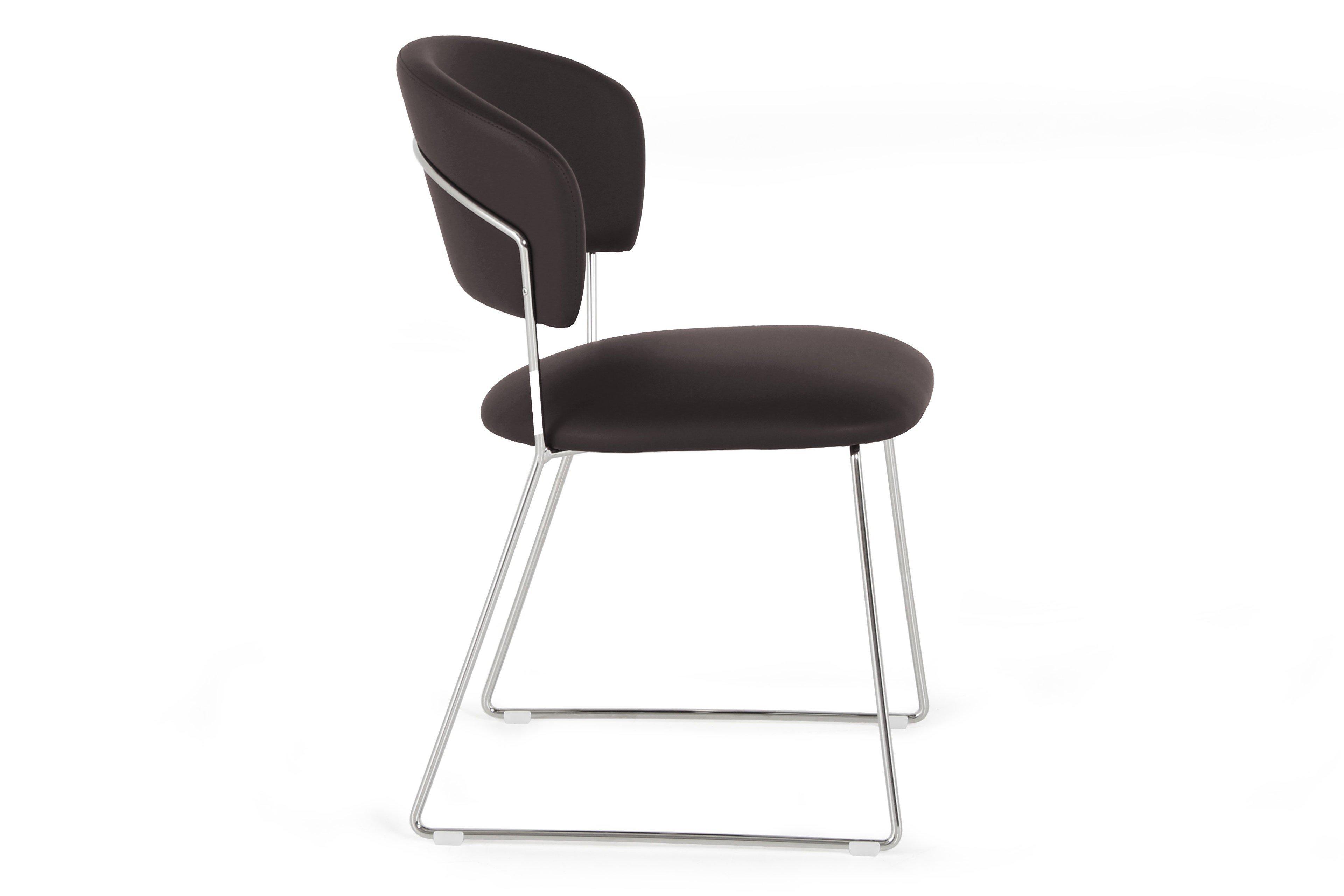 connubia by calligaris stuhl atlantis verchromt kaffee m bel letz ihr online shop. Black Bedroom Furniture Sets. Home Design Ideas
