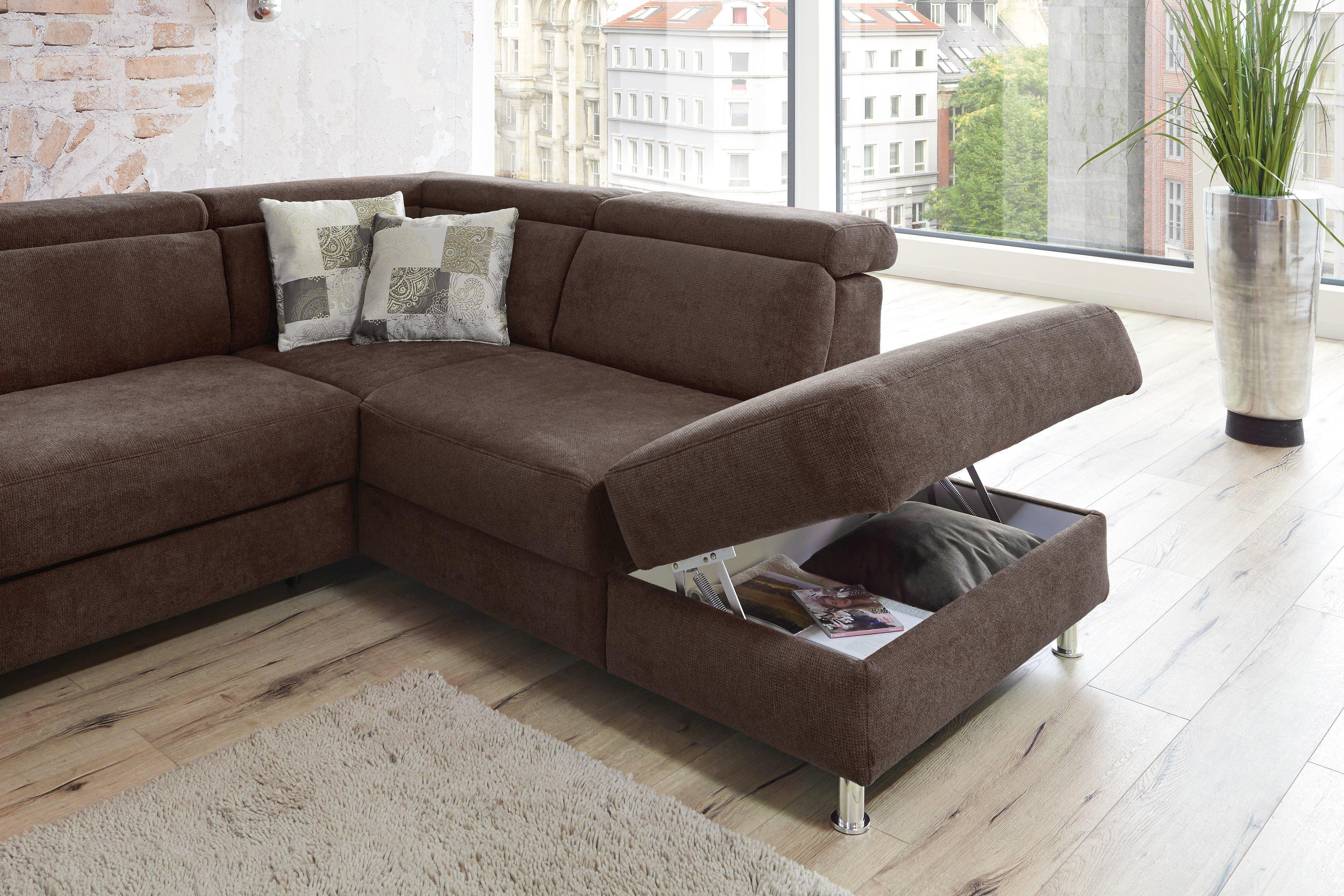 sit more home basic avignon eckgarnitur braun m bel letz ihr online shop. Black Bedroom Furniture Sets. Home Design Ideas