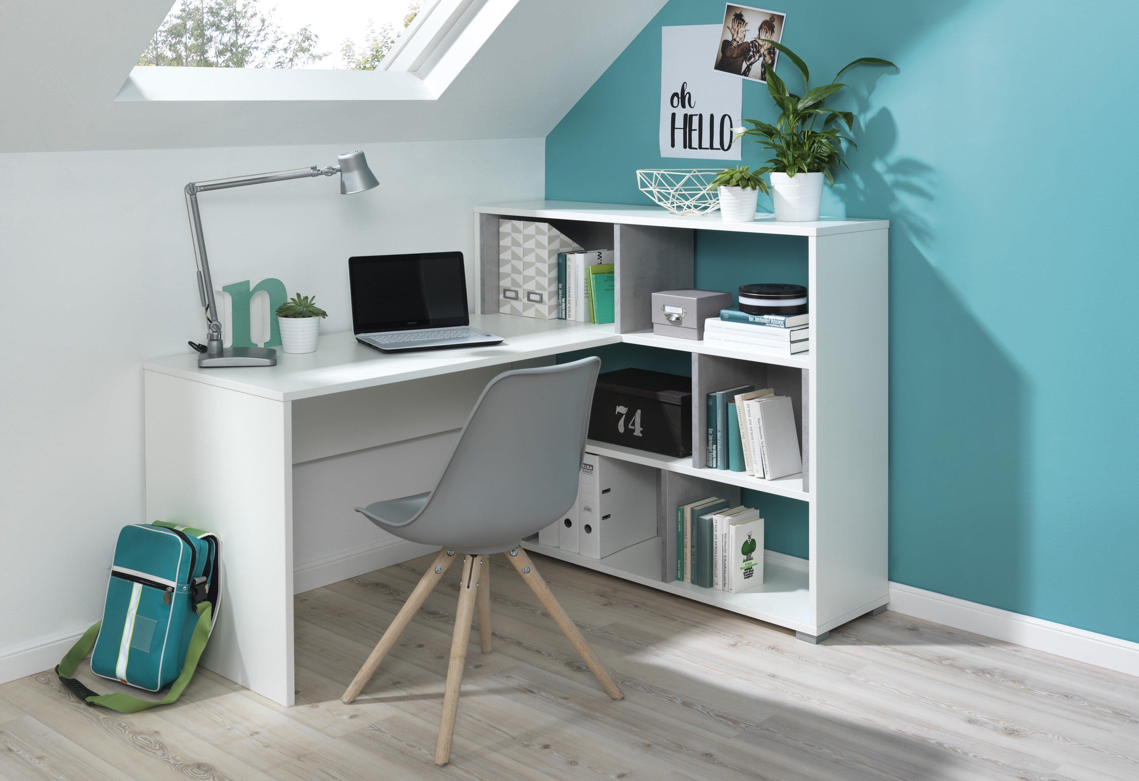 Wellemobel Concrete Schreibtisch Weiss Mobel Letz Ihr Online Shop