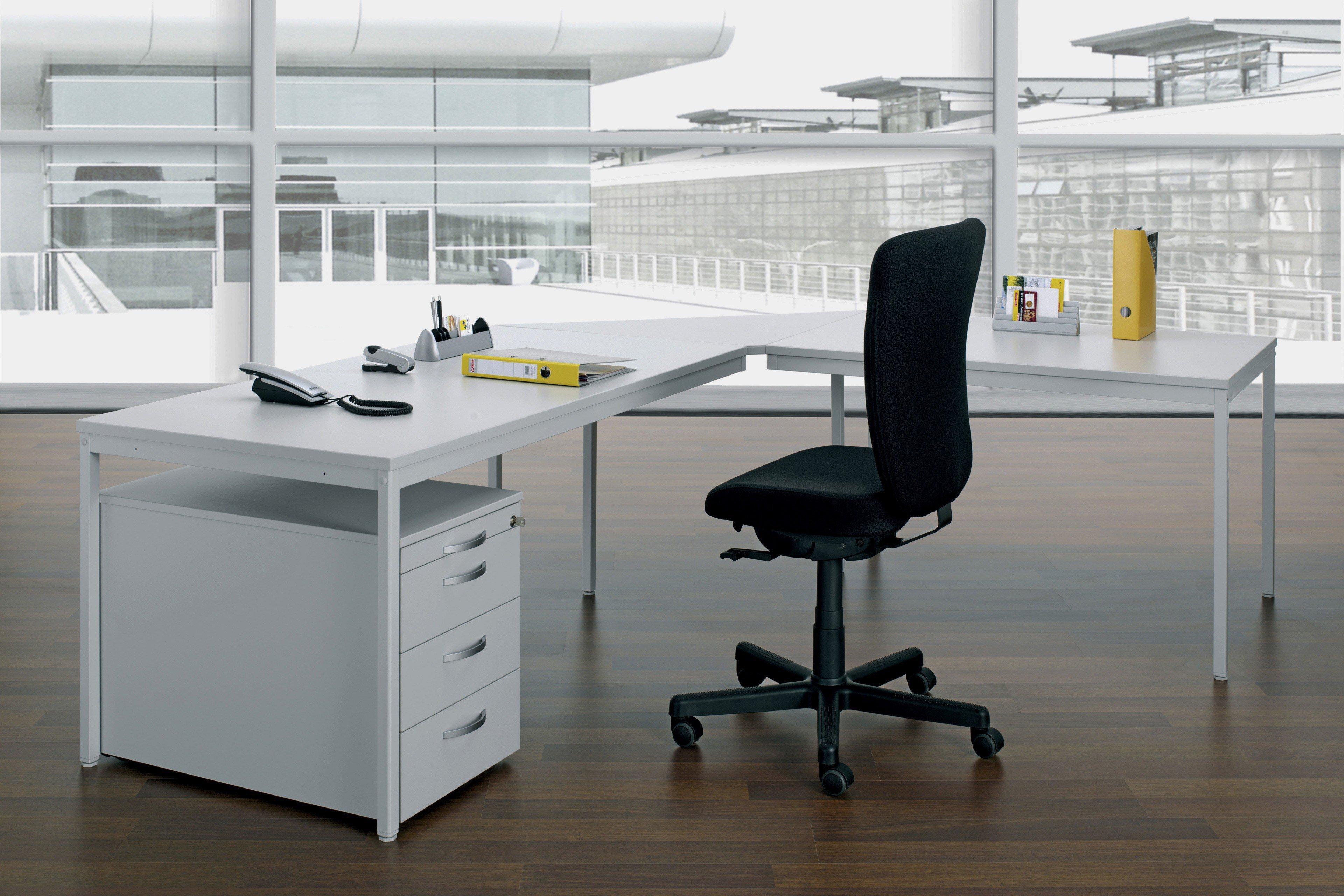 geramöbel Schreibtisch 4 Fuß Eco grau | Möbel Letz - Ihr Online-Shop