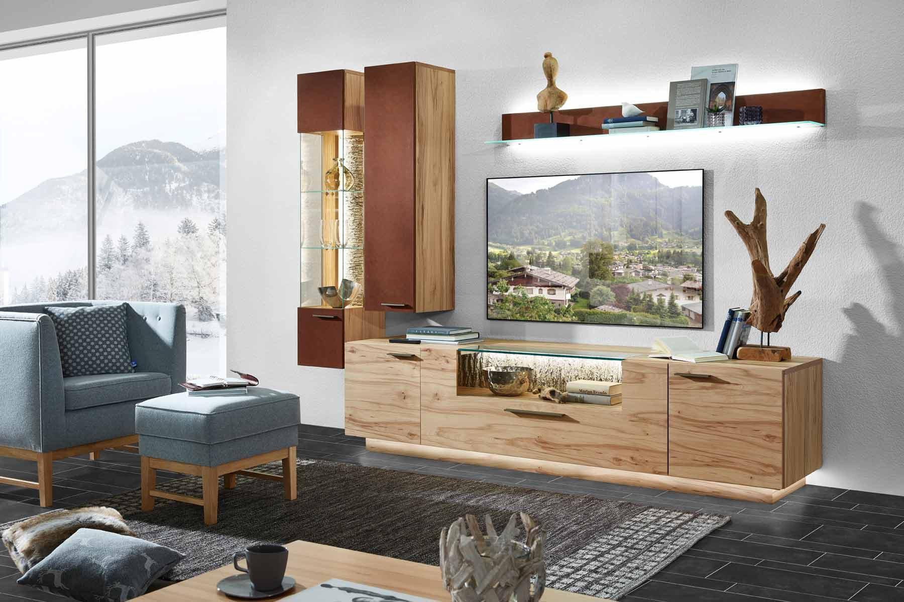 schr der m bel wohnwand kitzalm pur kernwildasteiche. Black Bedroom Furniture Sets. Home Design Ideas
