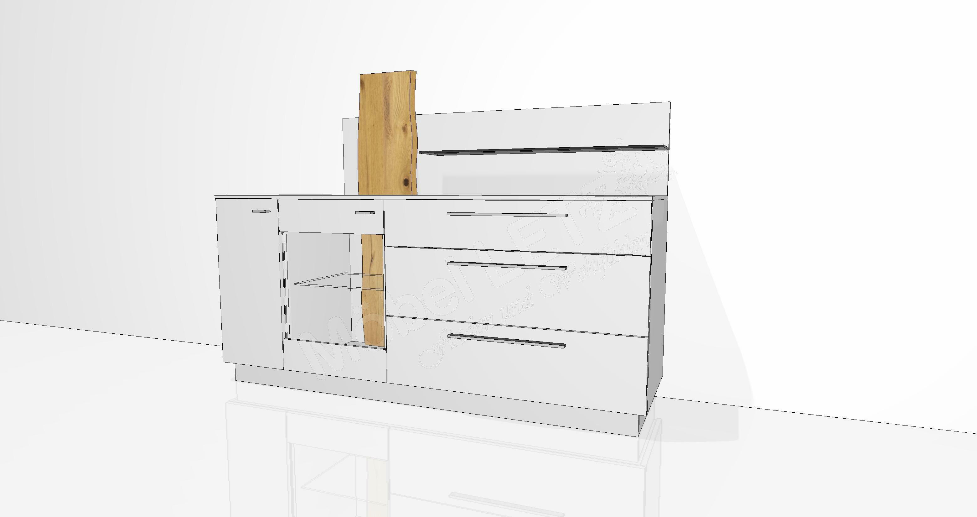 gwinner sideboard lucca lc22 mit beleuchtung m bel letz ihr online shop. Black Bedroom Furniture Sets. Home Design Ideas