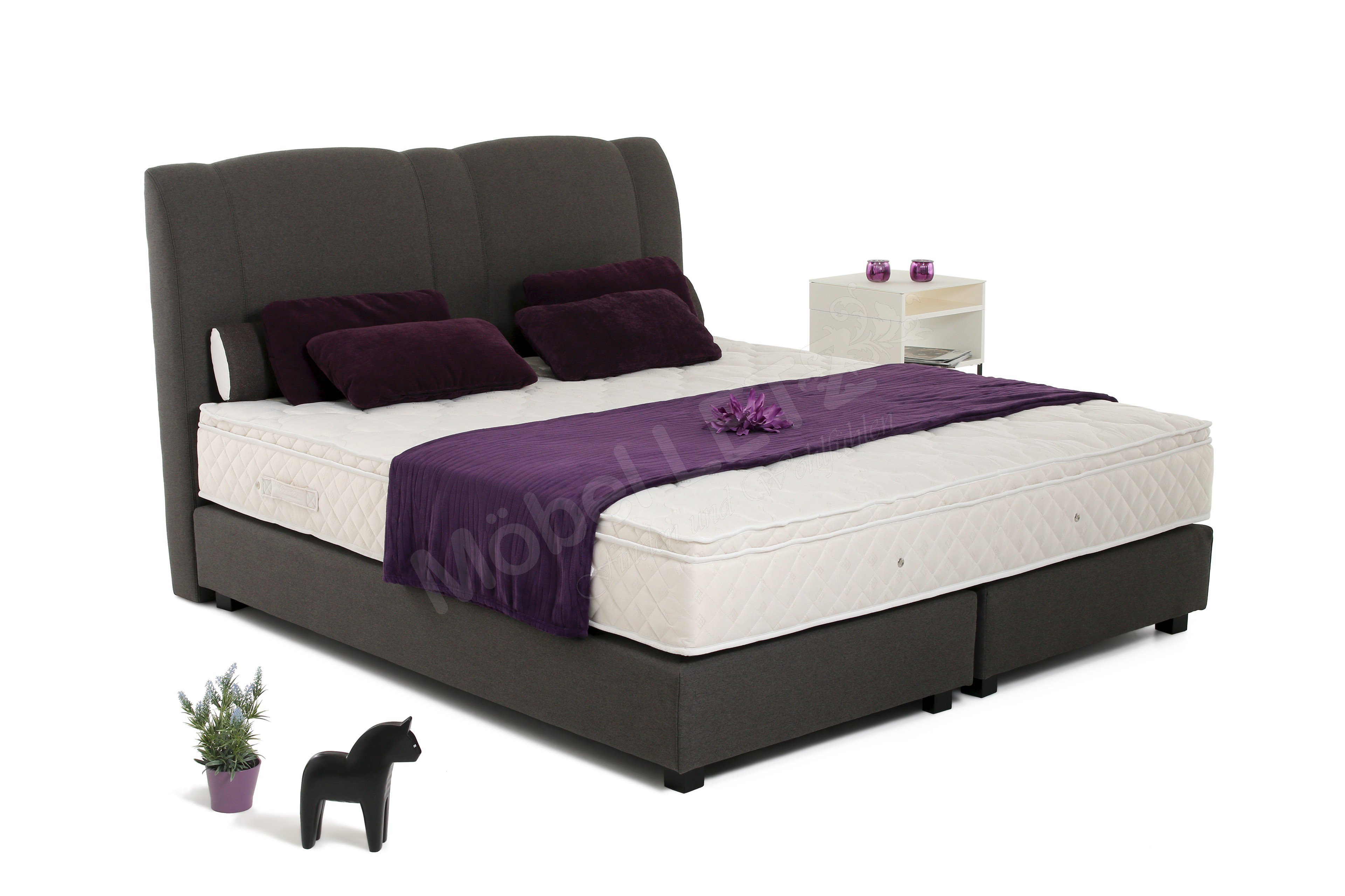 boxspringbett majken von skandinavische m bel mit extra. Black Bedroom Furniture Sets. Home Design Ideas