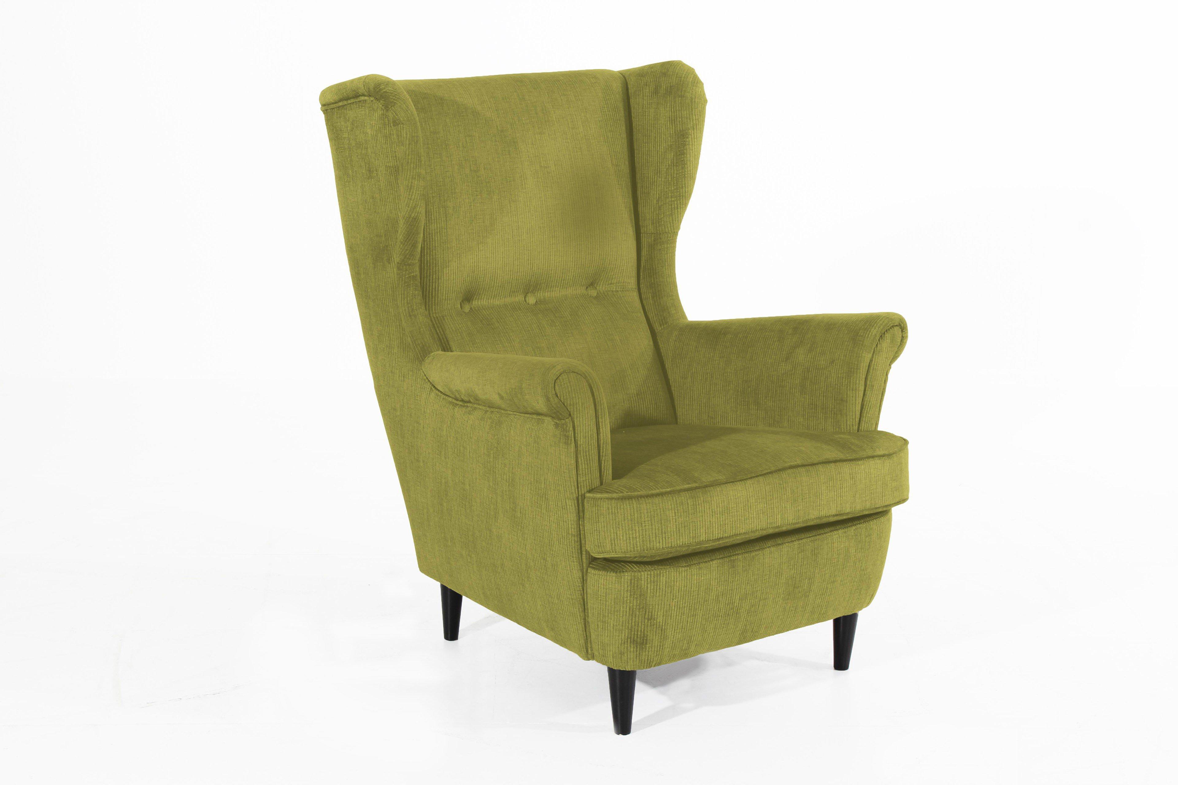 max winzer clint polstersessel in gr n m bel letz ihr online shop. Black Bedroom Furniture Sets. Home Design Ideas
